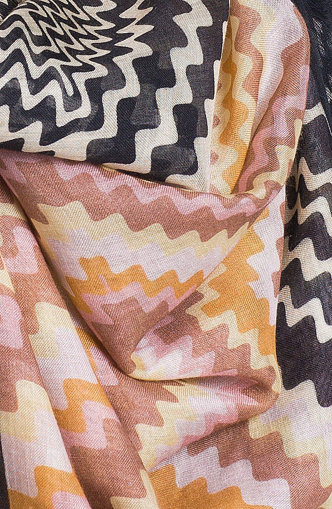Alternate Image 2  - Missoni Zigzag Linen Blend Scarf