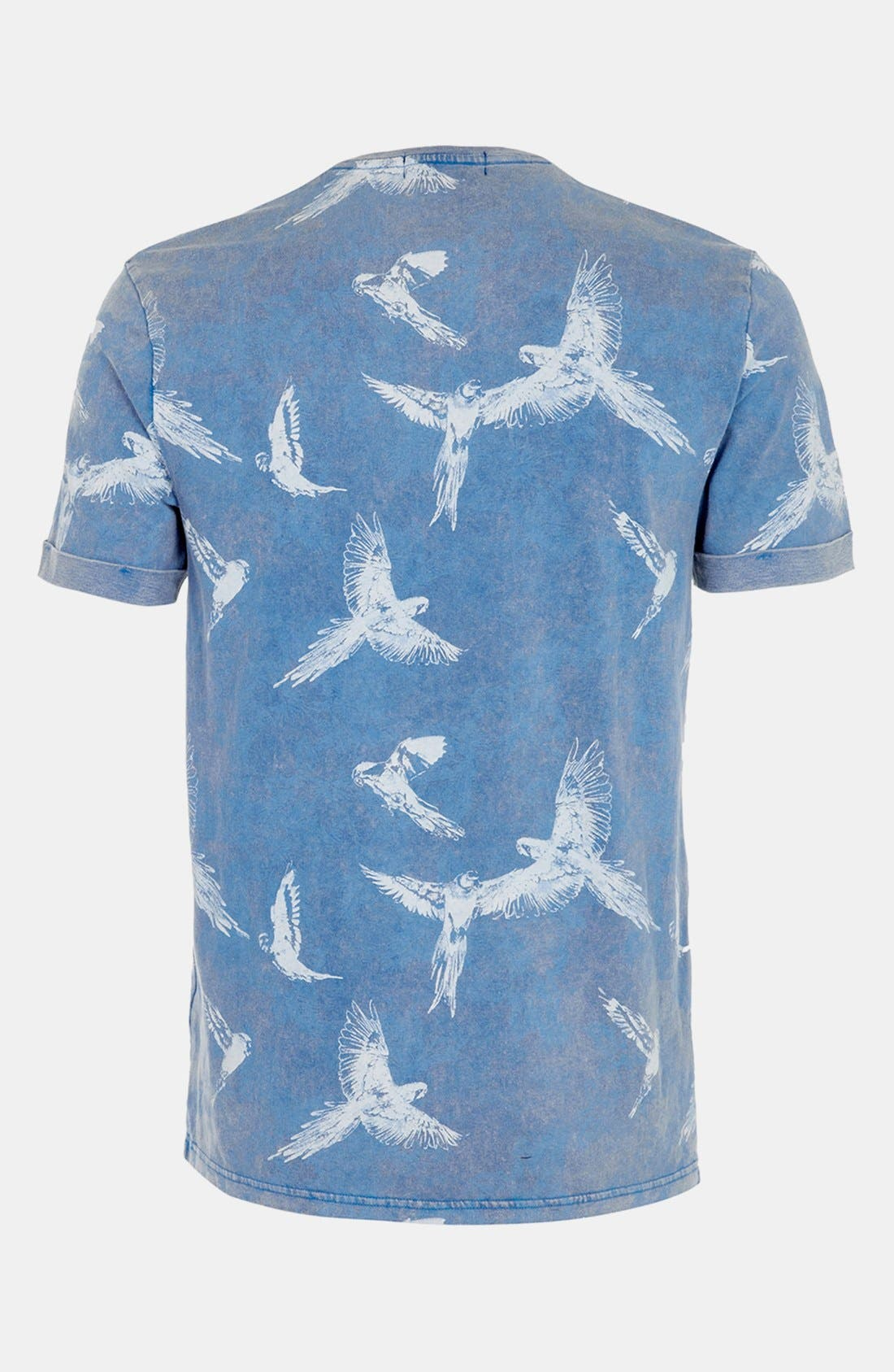 Alternate Image 2  - Topman Allover Bird Print T-Shirt