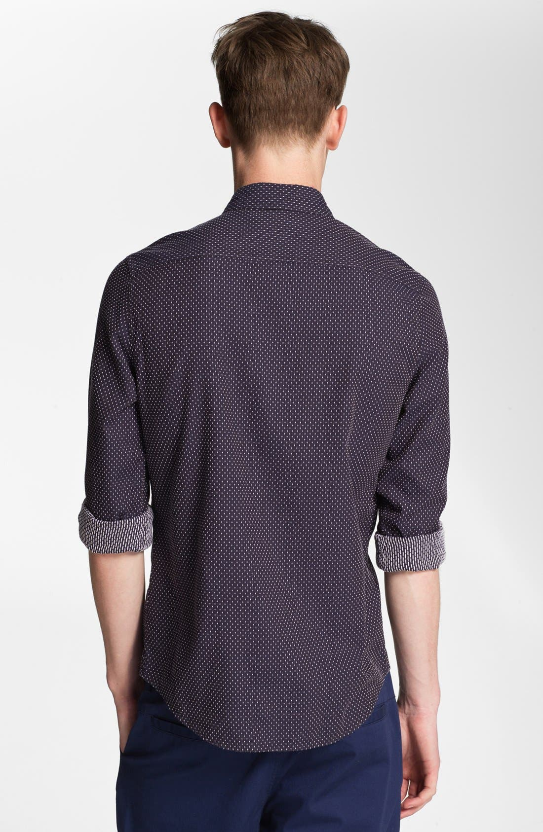 Alternate Image 2  - Topman Dot Woven Shirt