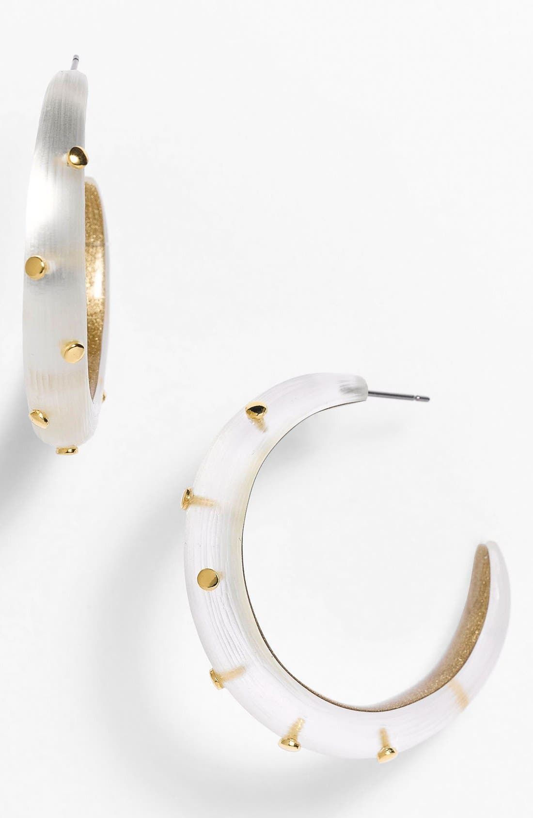 Alternate Image 1 Selected - Alexis Bittar 'Lucite®' Dotted Hoop Earrings