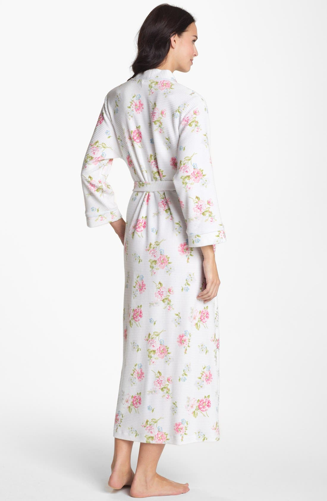 Alternate Image 2  - Carole Hochman Designs Long Floral Print Robe