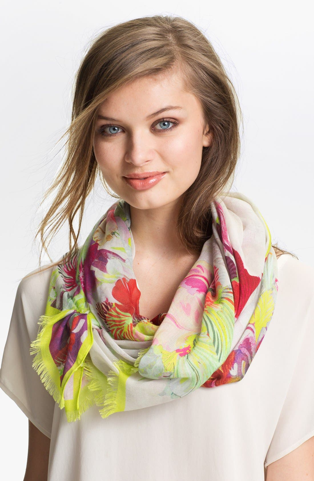 Alternate Image 1 Selected - Ted Baker London 'Treasured Orchid' Scarf