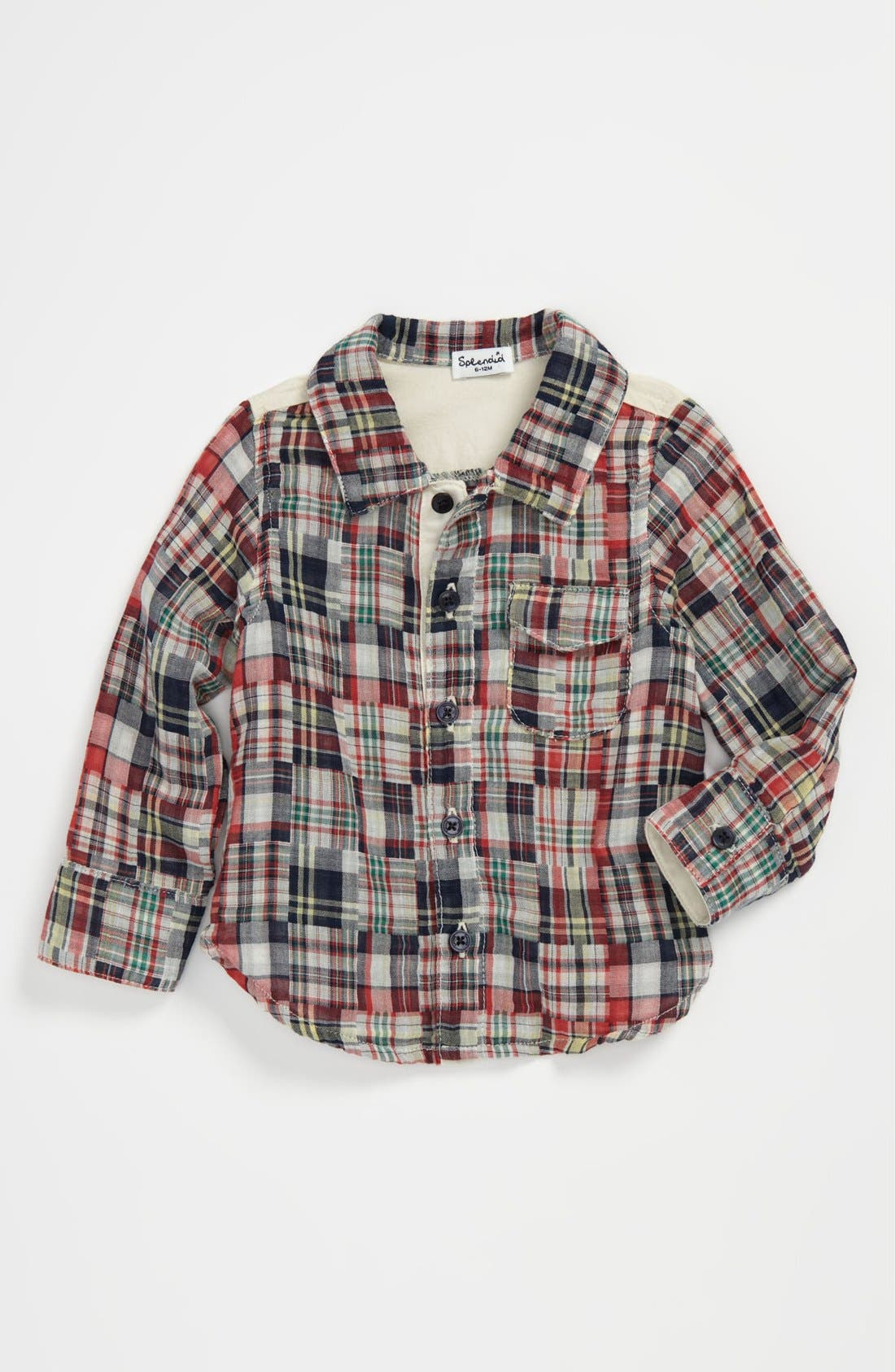 Main Image - Splendid Patchwork Button Down Shirt (Toddler)