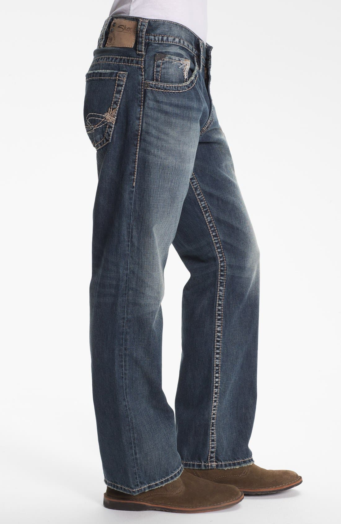 Alternate Image 3  - Silver Jeans Co. 'Gordie' Bootcut Jeans (Indigo)