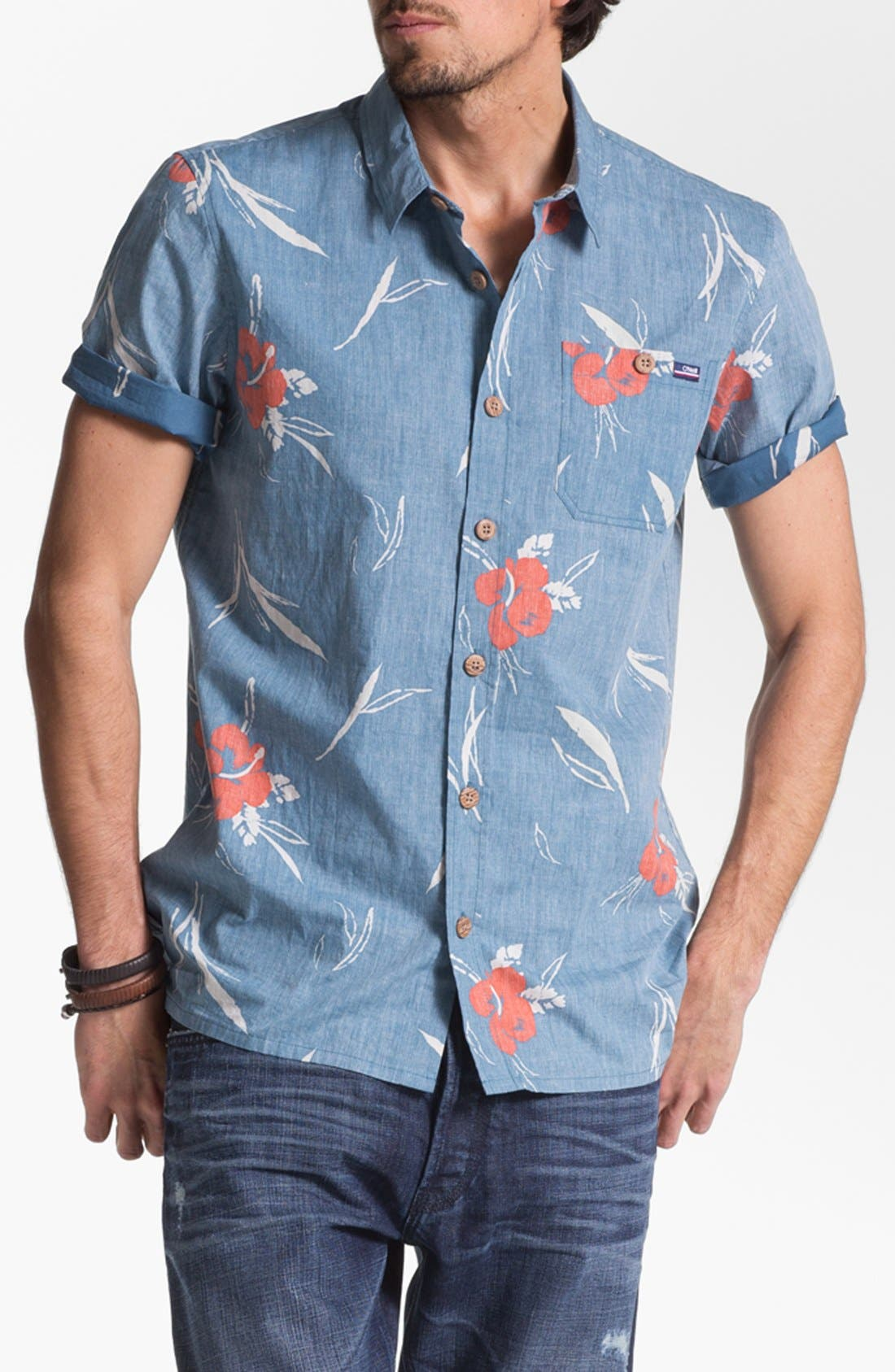 Alternate Image 1 Selected - Jack O'Neill 'Sea Salt' Short Sleeve Sport Shirt