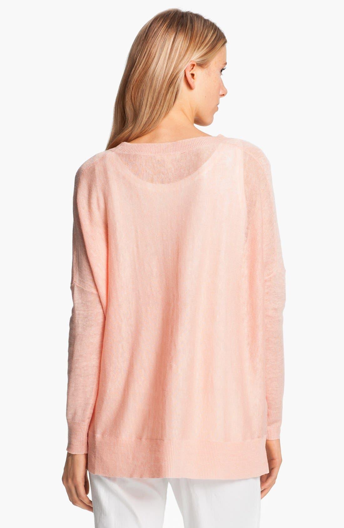 Alternate Image 3  - Eileen Fisher Lightweight Linen Tunic (Petite)