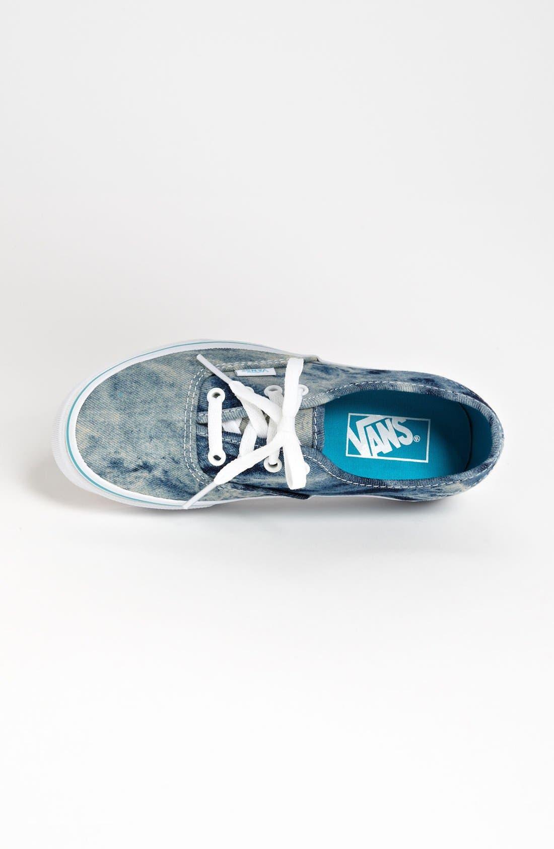 Alternate Image 3  - Vans 'Authentic' Acid Wash Denim Sneaker