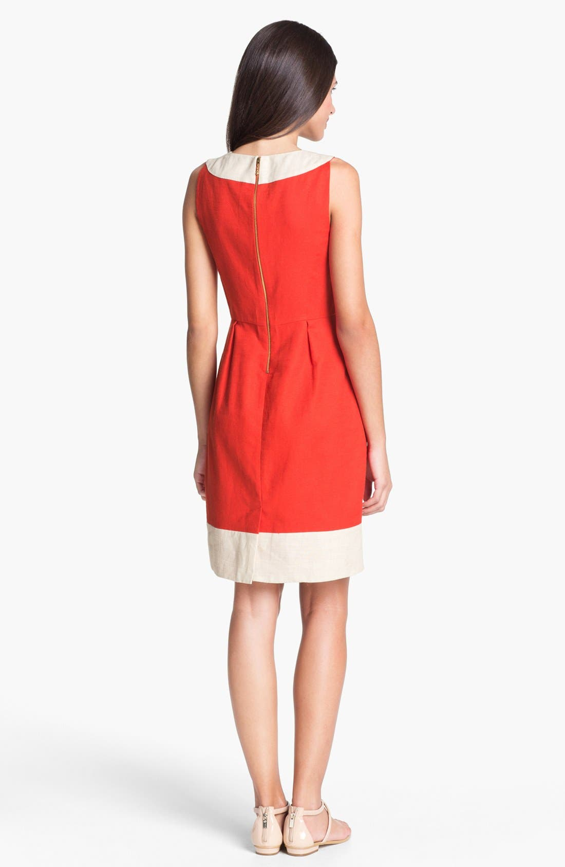 Alternate Image 2  - kate spade new york 'james' cotton blend sheath dress