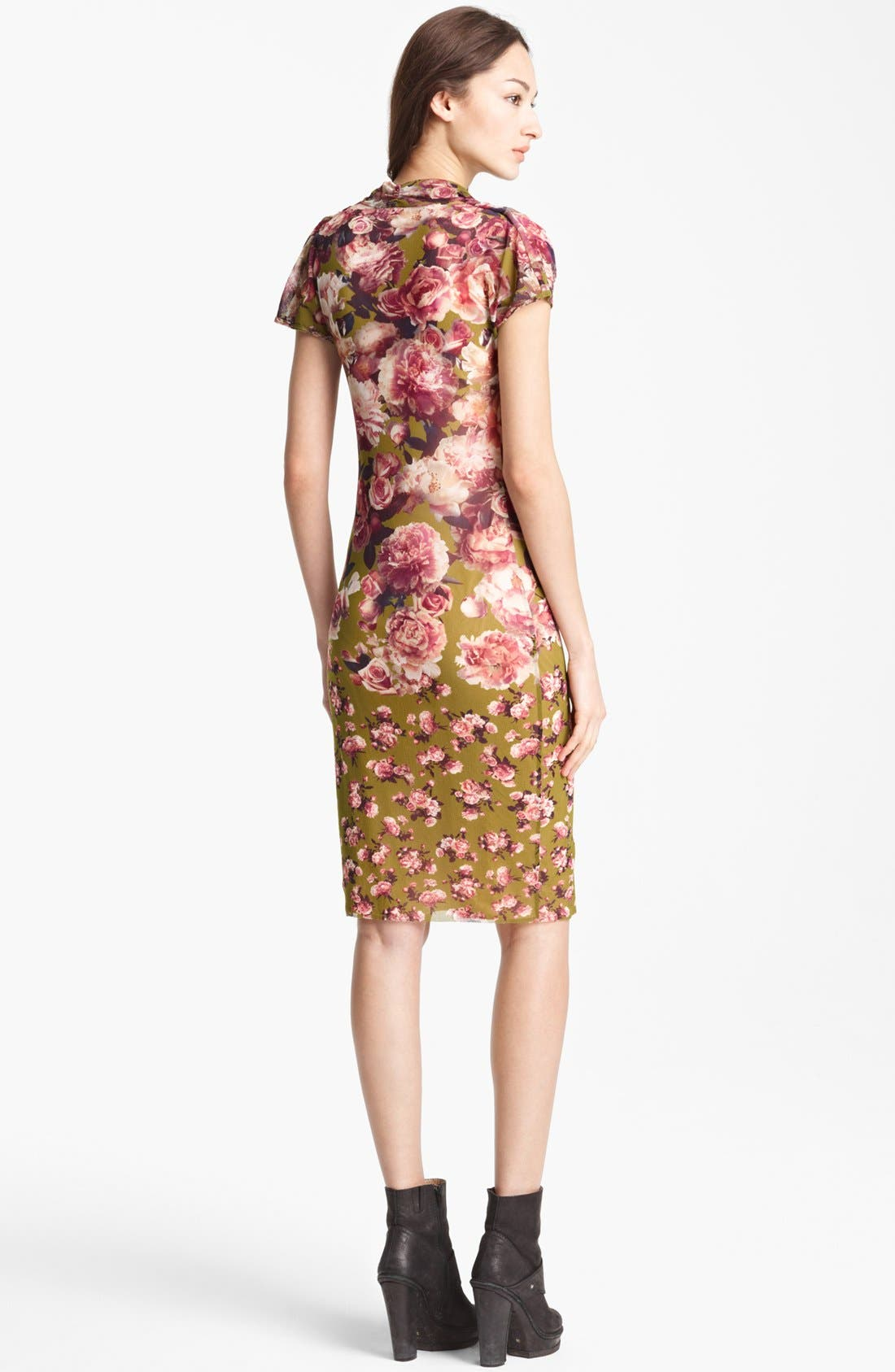 Alternate Image 2  - Jean Paul Gaultier Fuzzi Rose Print Tulle Dress