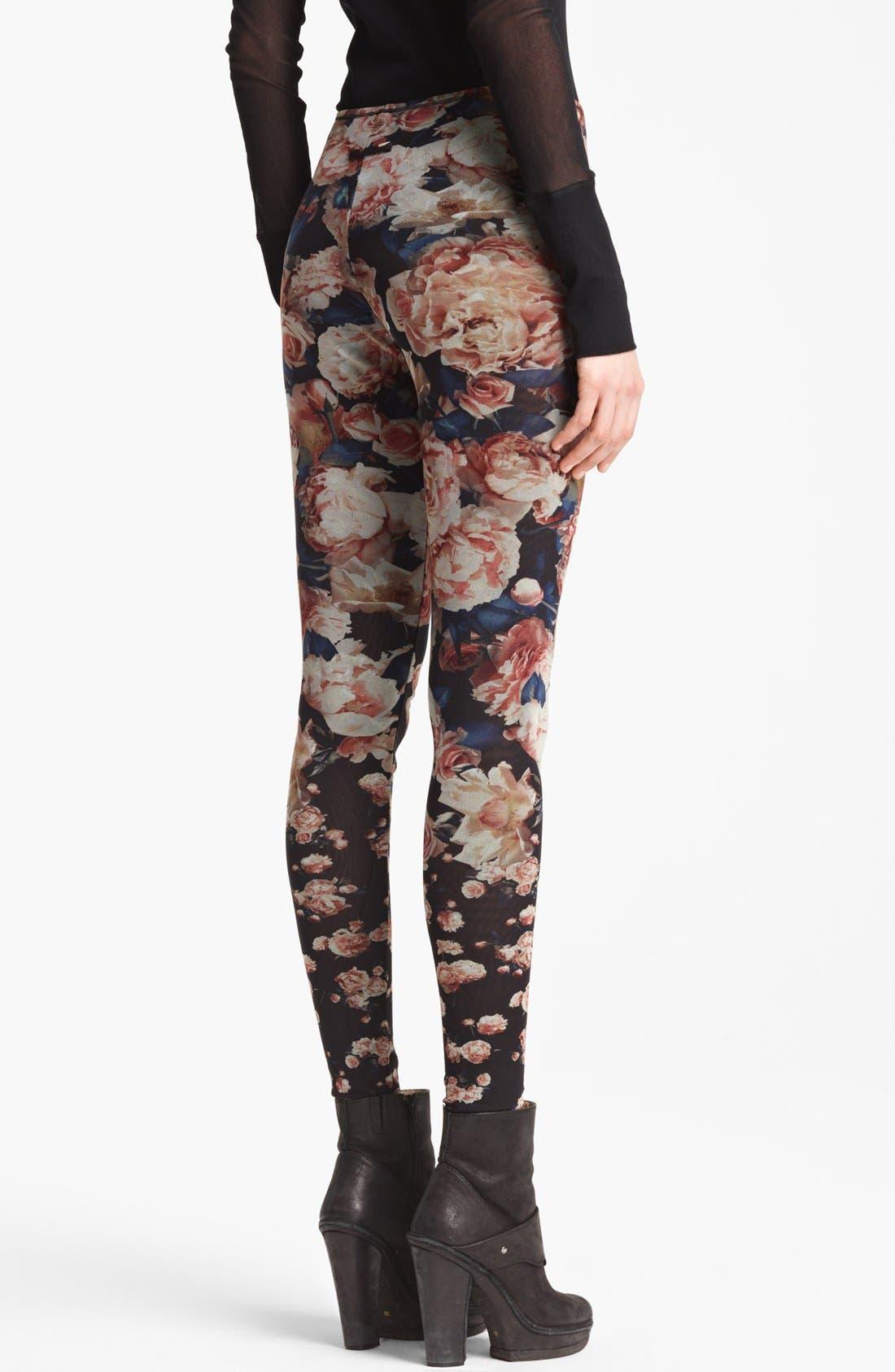 Alternate Image 2  - Jean Paul Gaultier Fuzzi Rose Print Leggings