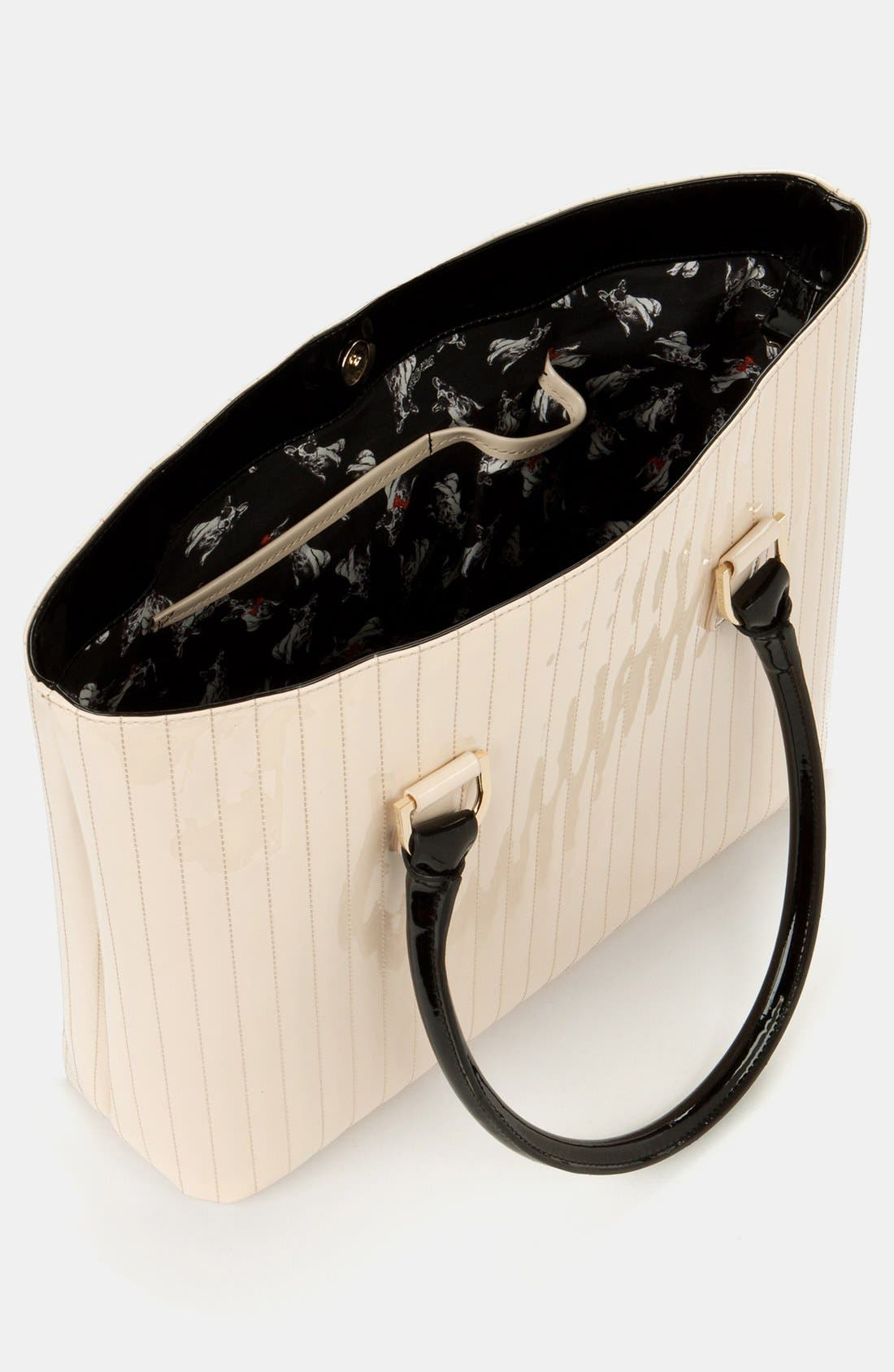Alternate Image 4  - Ted Baker London 'Enamel - Colorblock' Quilted Faux Leather Shopper