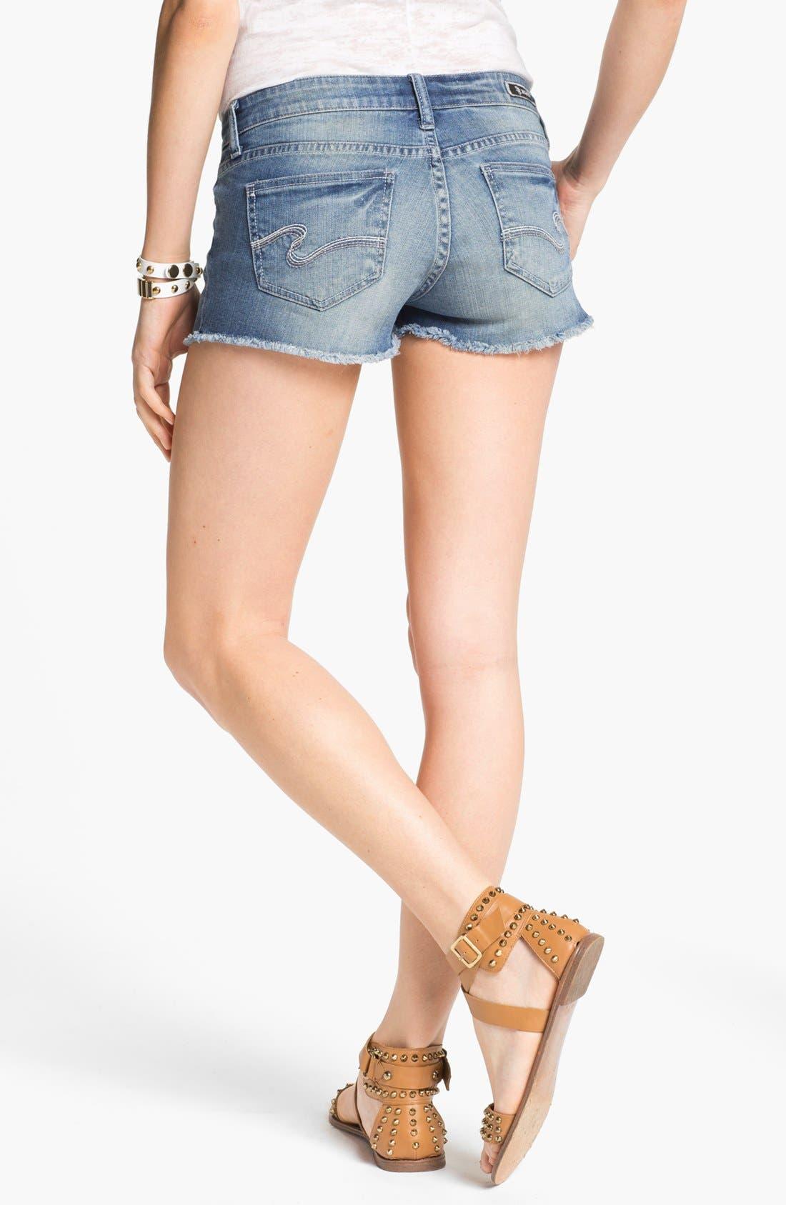 Alternate Image 2  - STS Blue Cutoff Denim Shorts (Agate Medium) (Juniors)