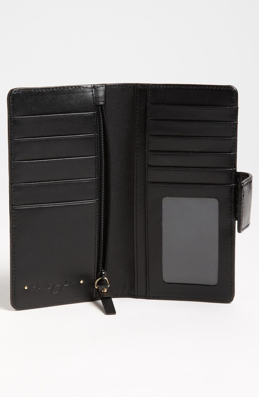 Alternate Image 3  - Halogen 'Victoria' Scalloped Trim Wallet