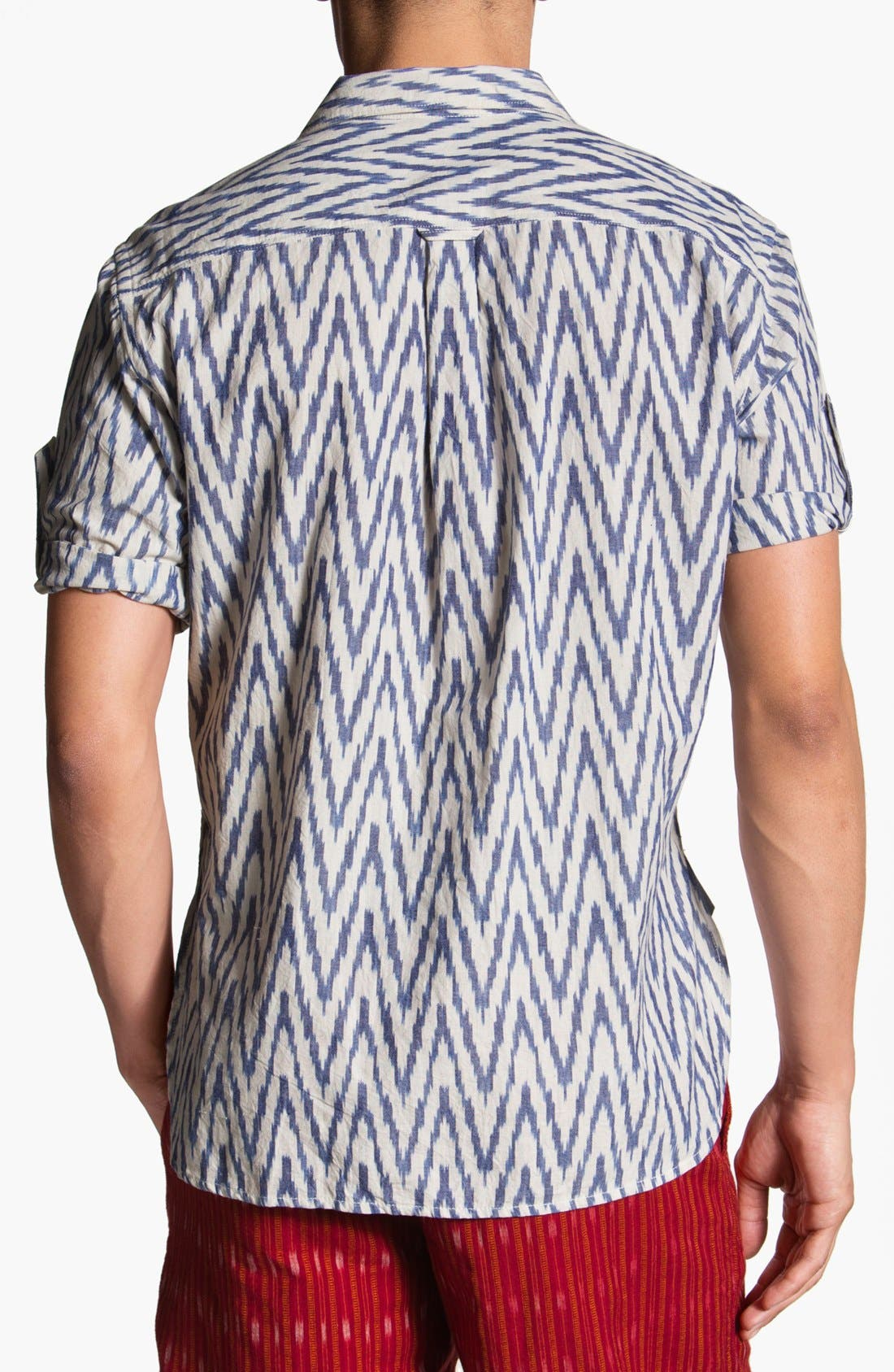 Alternate Image 2  - Burkman Bros Short Sleeve Campshirt