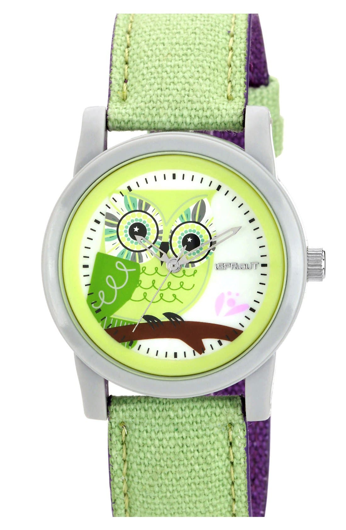Main Image - SPROUT™ Watches Owl Dial Watch, 38mm