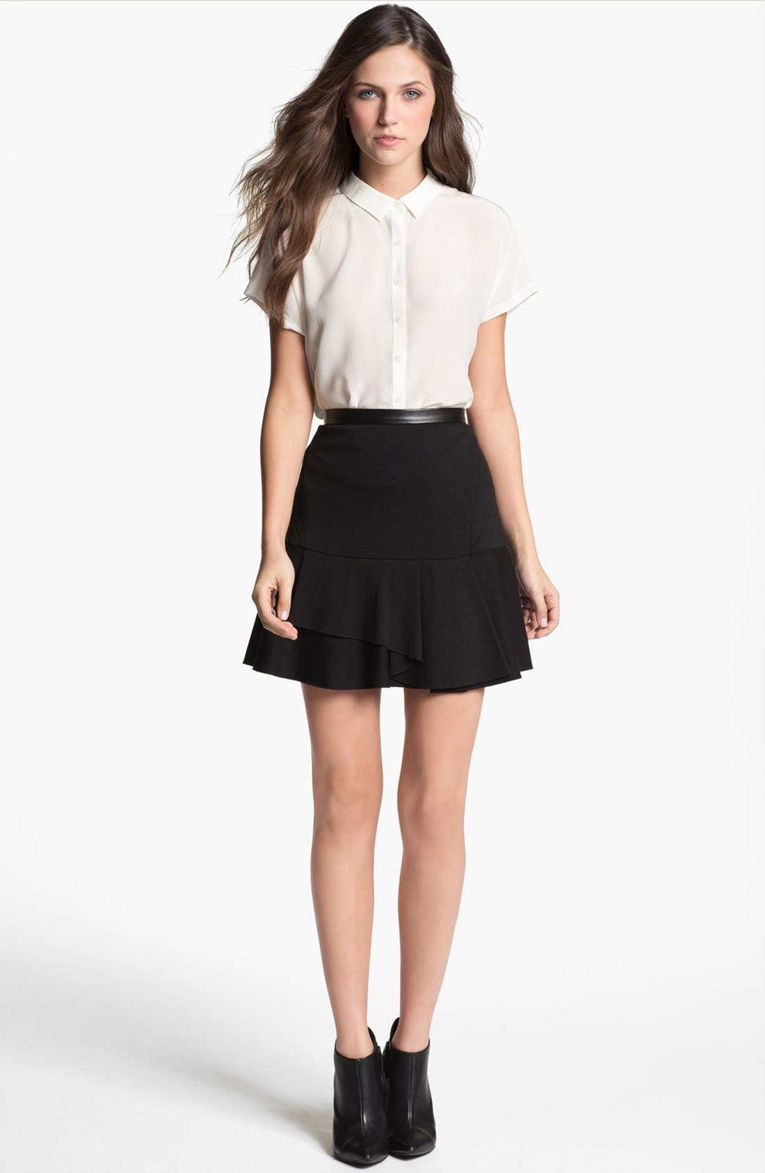 Alternate Image 3  - Robbi & Nikki Asymmetrical Ruffle Skirt
