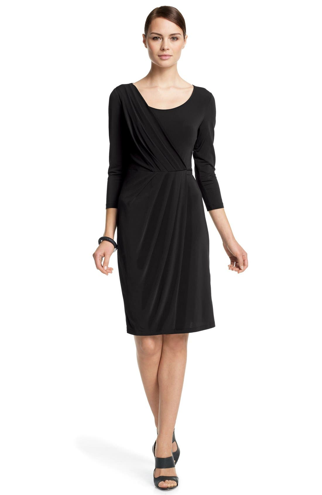 Main Image - Lafayette 148 New York Layered Pleat Dress