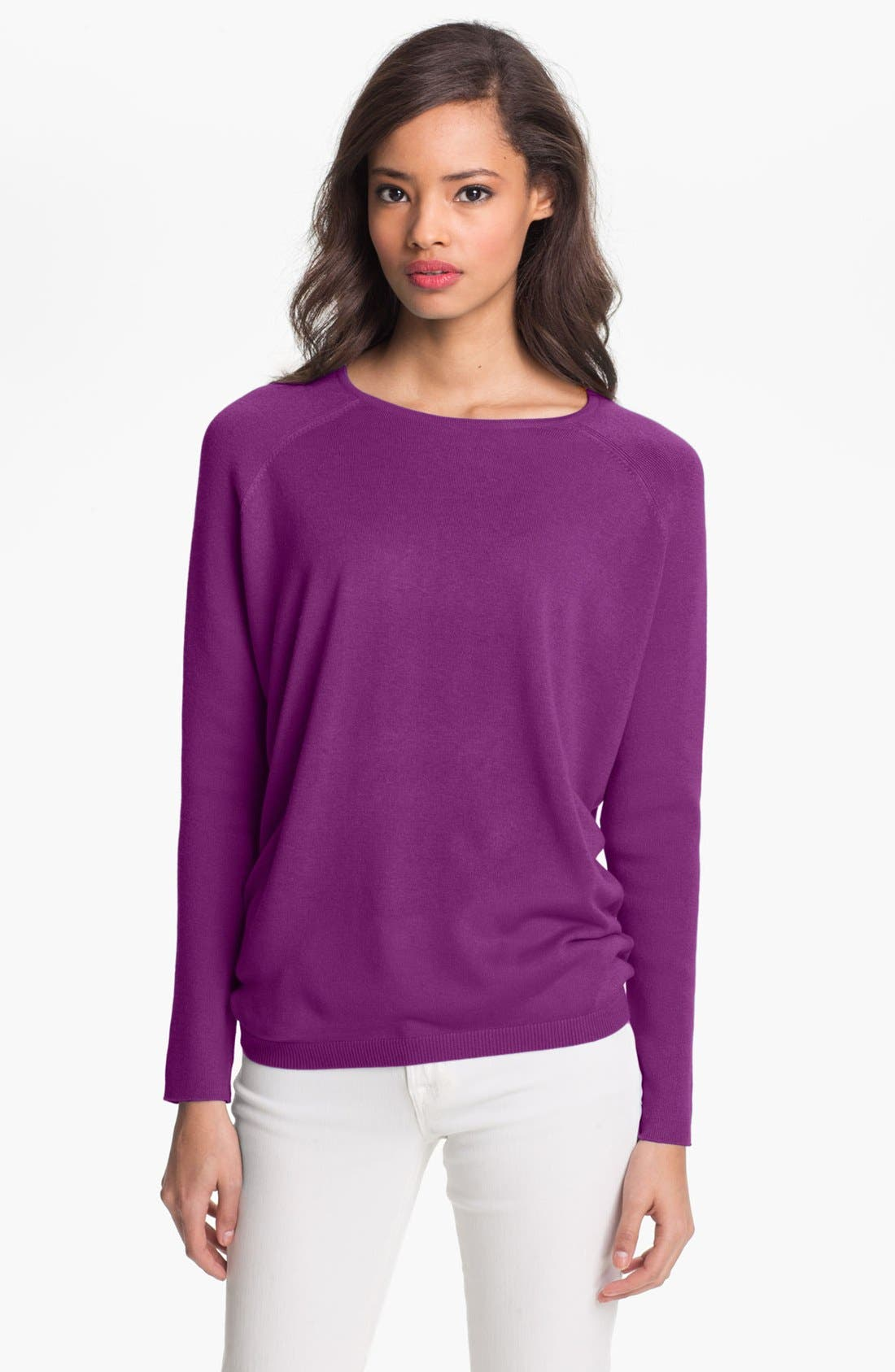 Alternate Image 1 Selected - Nordstrom Collection Silk & Cashmere Crewneck Sweater
