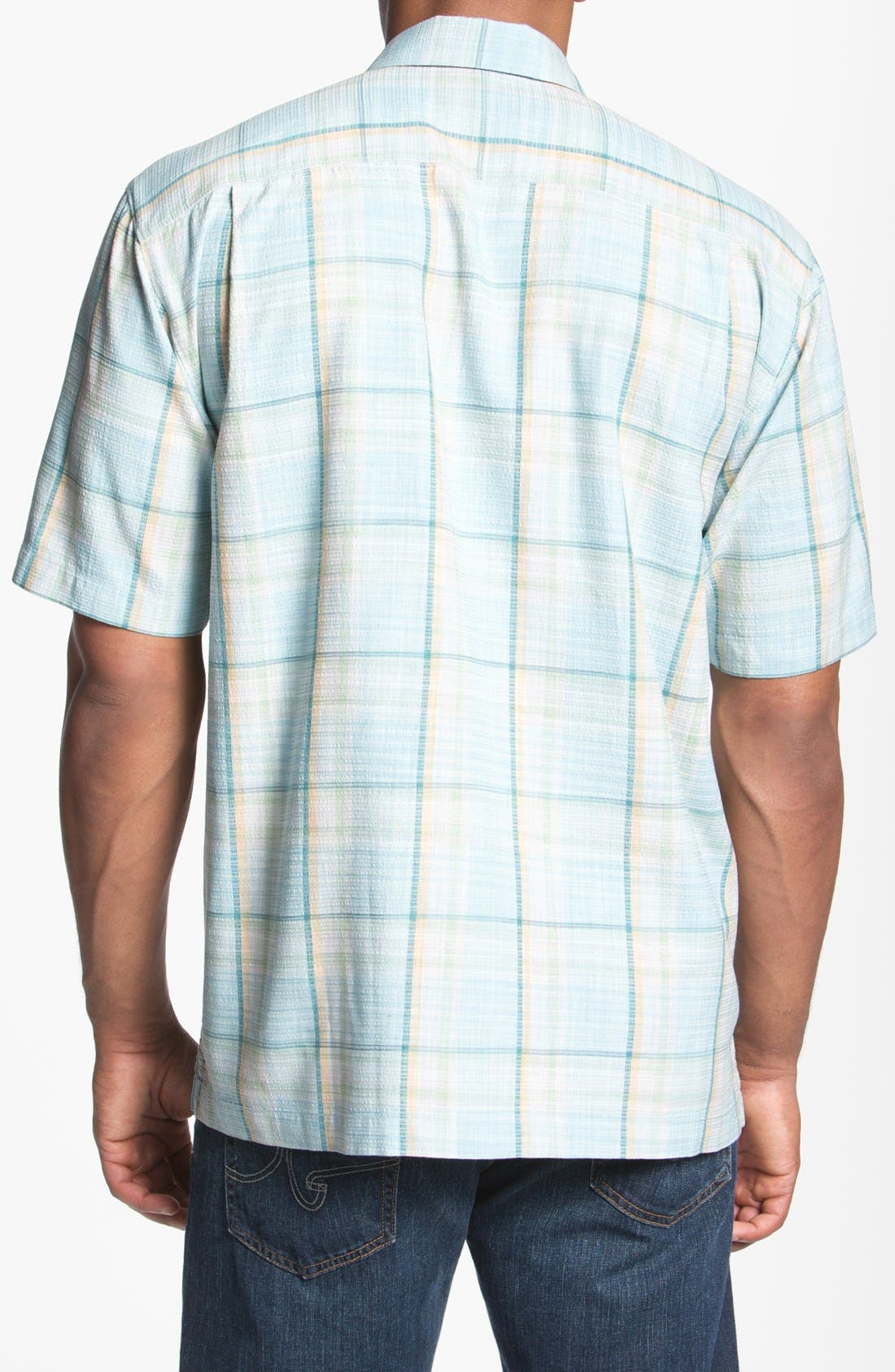 Alternate Image 2  - Tommy Bahama 'Plaid Manners' Campshirt
