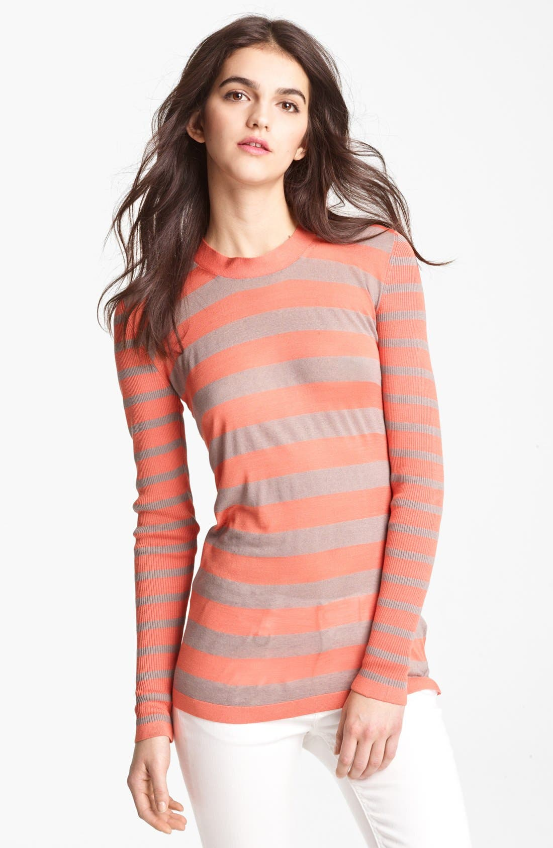 Alternate Image 1 Selected - Burberry London Stripe Knit Top
