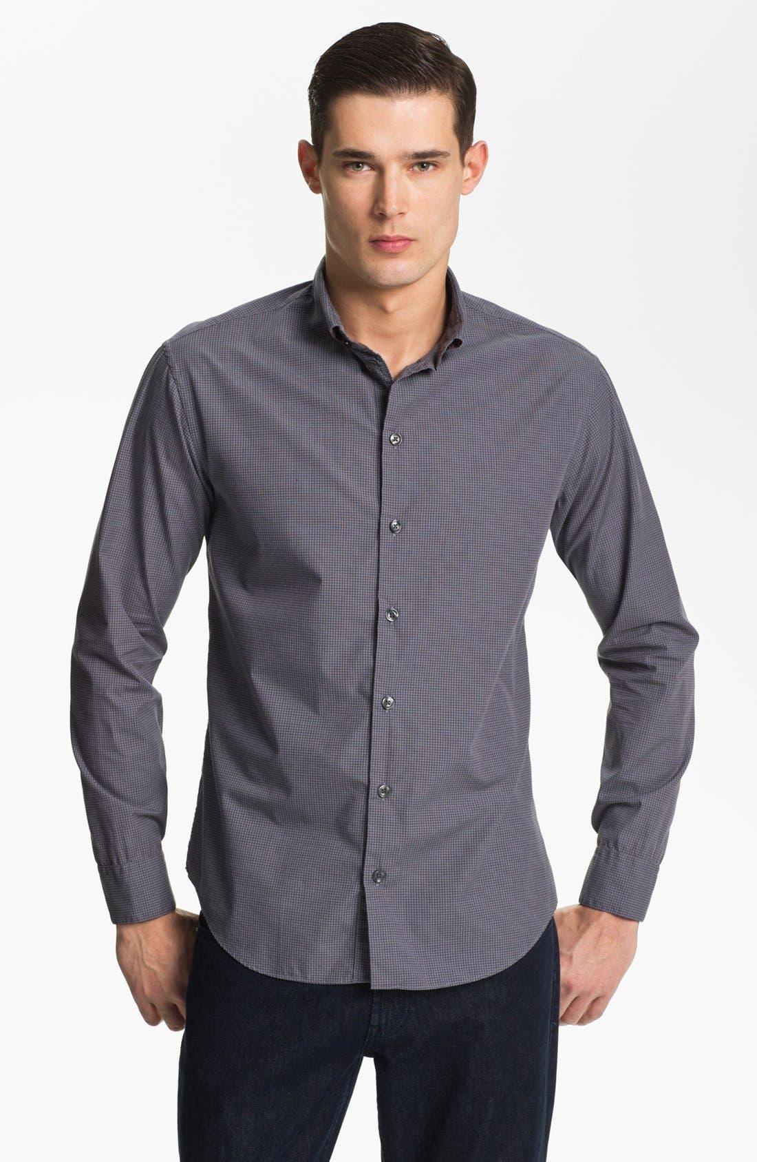 Alternate Image 1 Selected - Armani Collezioni Graph Check Sport Shirt