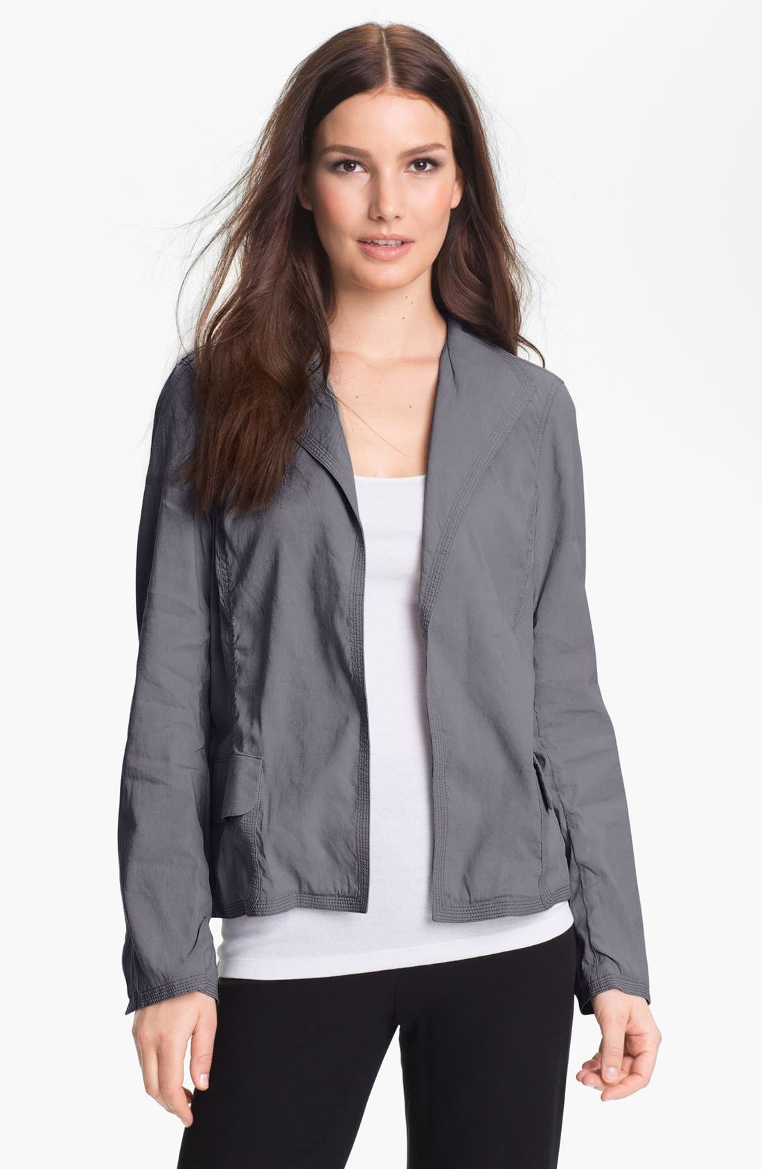 Alternate Image 1 Selected - Eileen Fisher Stand Collar Jacket