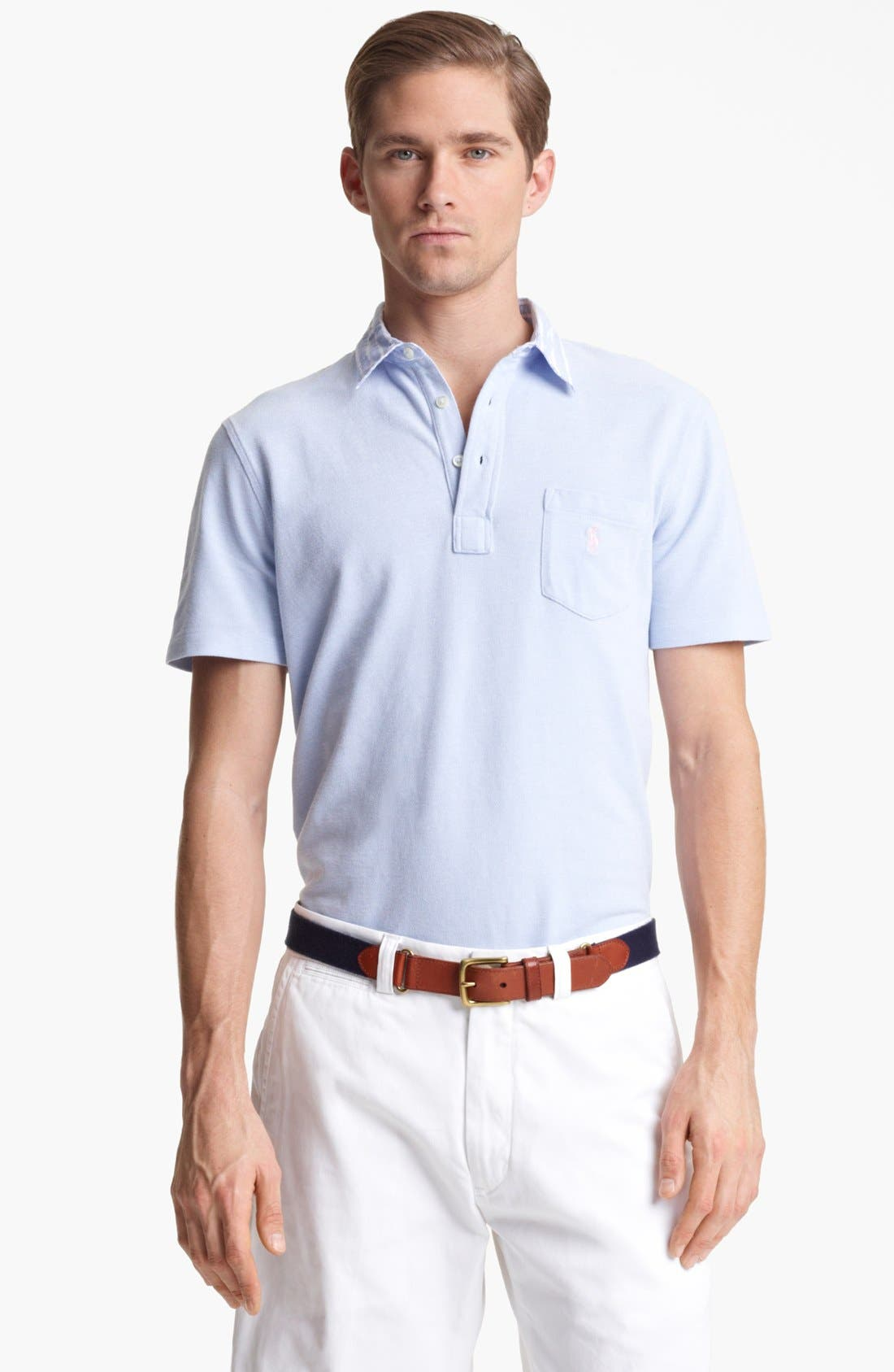 Alternate Image 1 Selected - Polo Ralph Lauren Oxford Mesh Polo