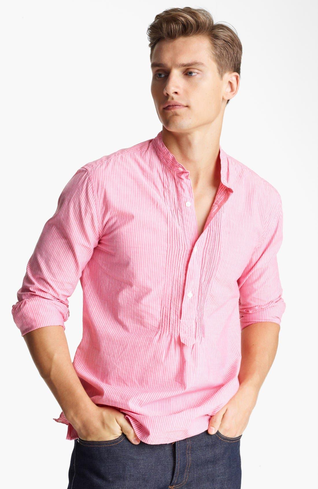Alternate Image 1 Selected - Michael Bastian 'Indian Wedding' Stripe Popover Shirt