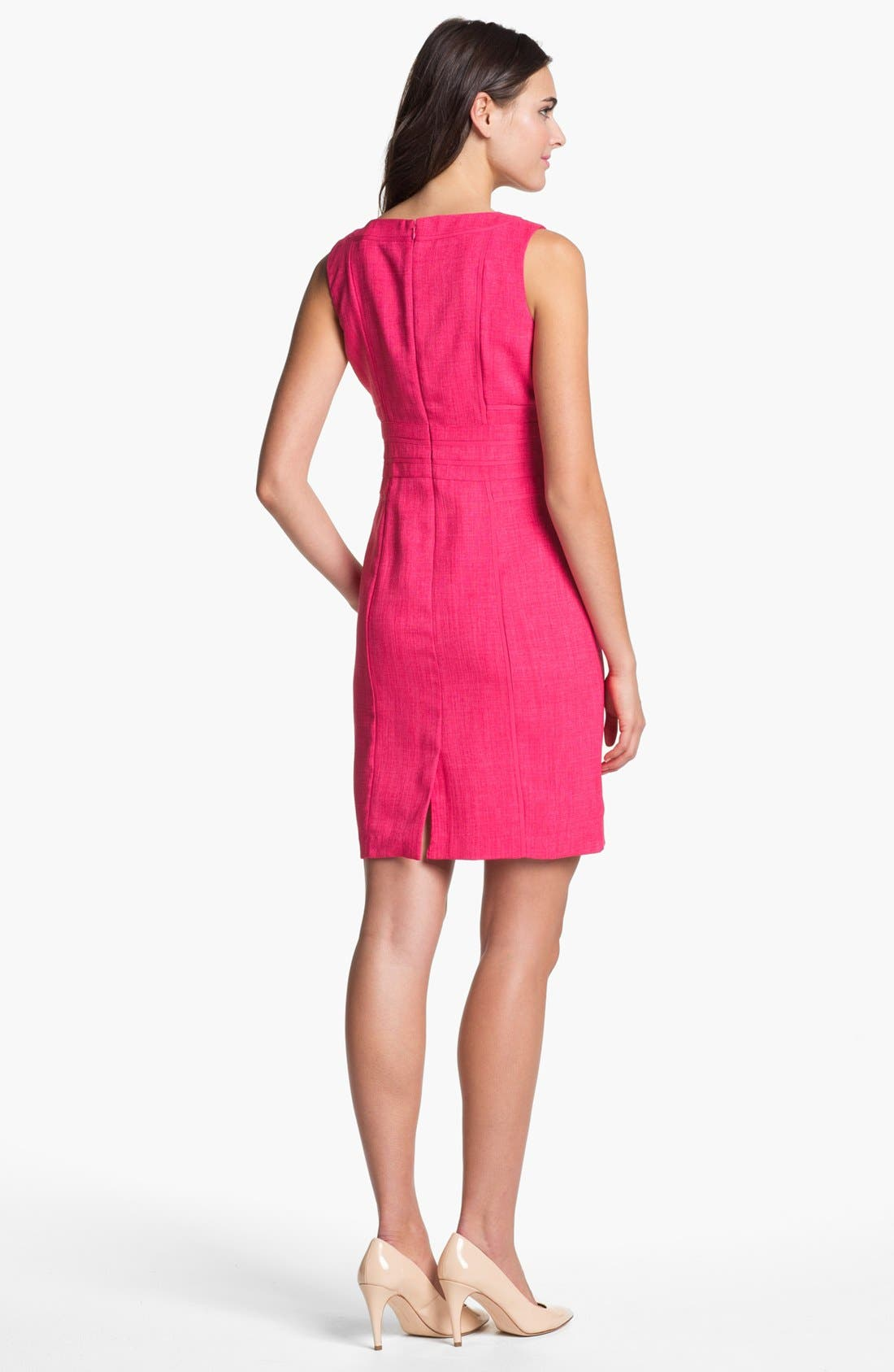Alternate Image 2  - Ellen Tracy Sleeveless Sheath Dress