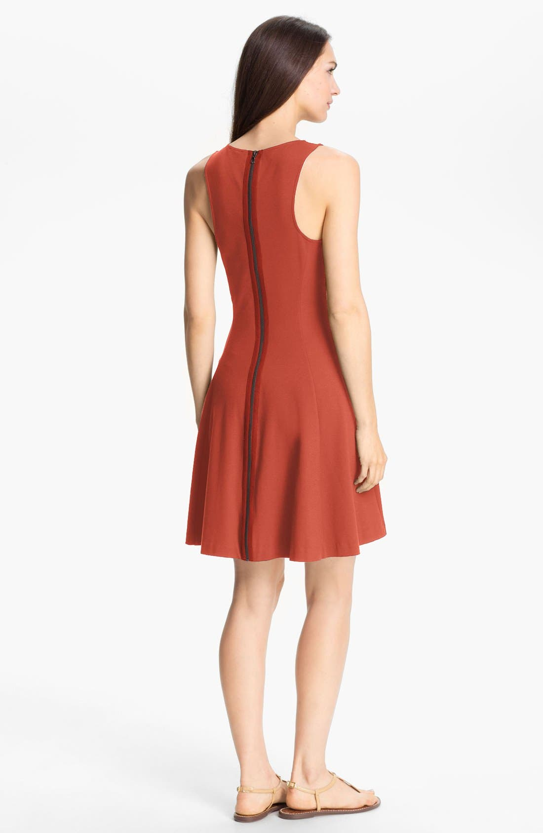 Alternate Image 2  - Theory 'Panoa' Stretch Fit & Flare Dress