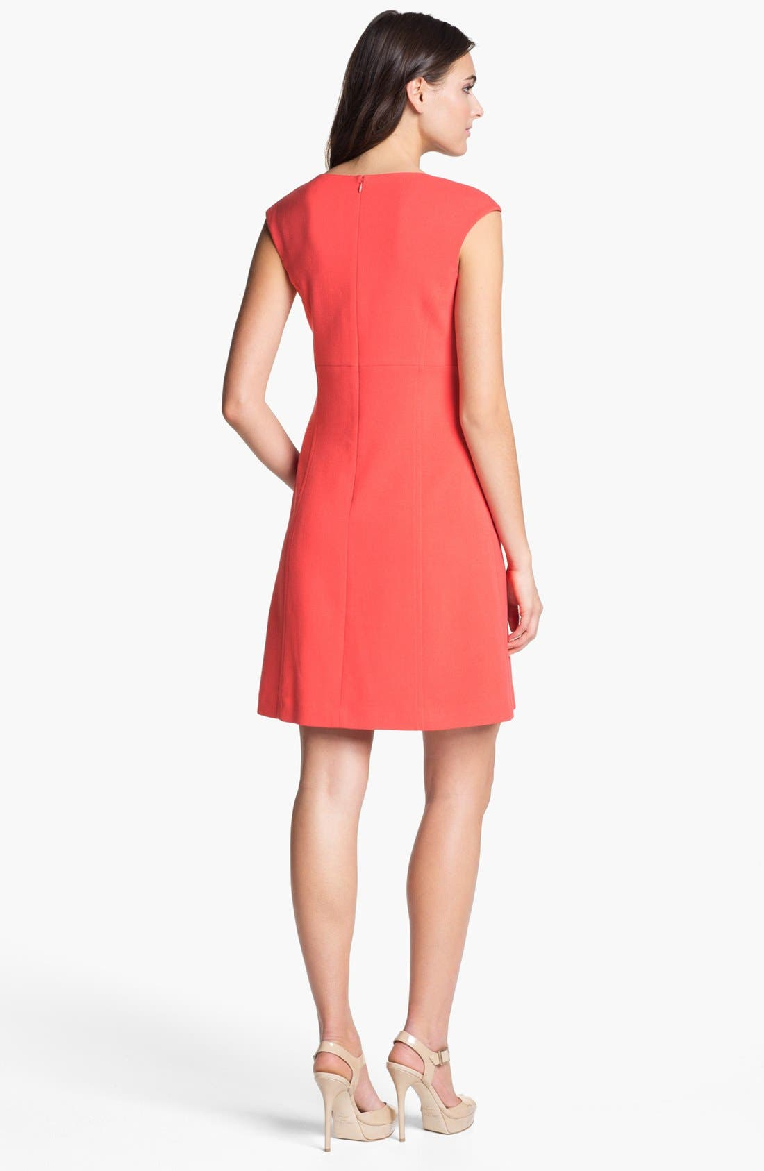 Alternate Image 2  - Eliza J Seamed Knit A-Line Dress