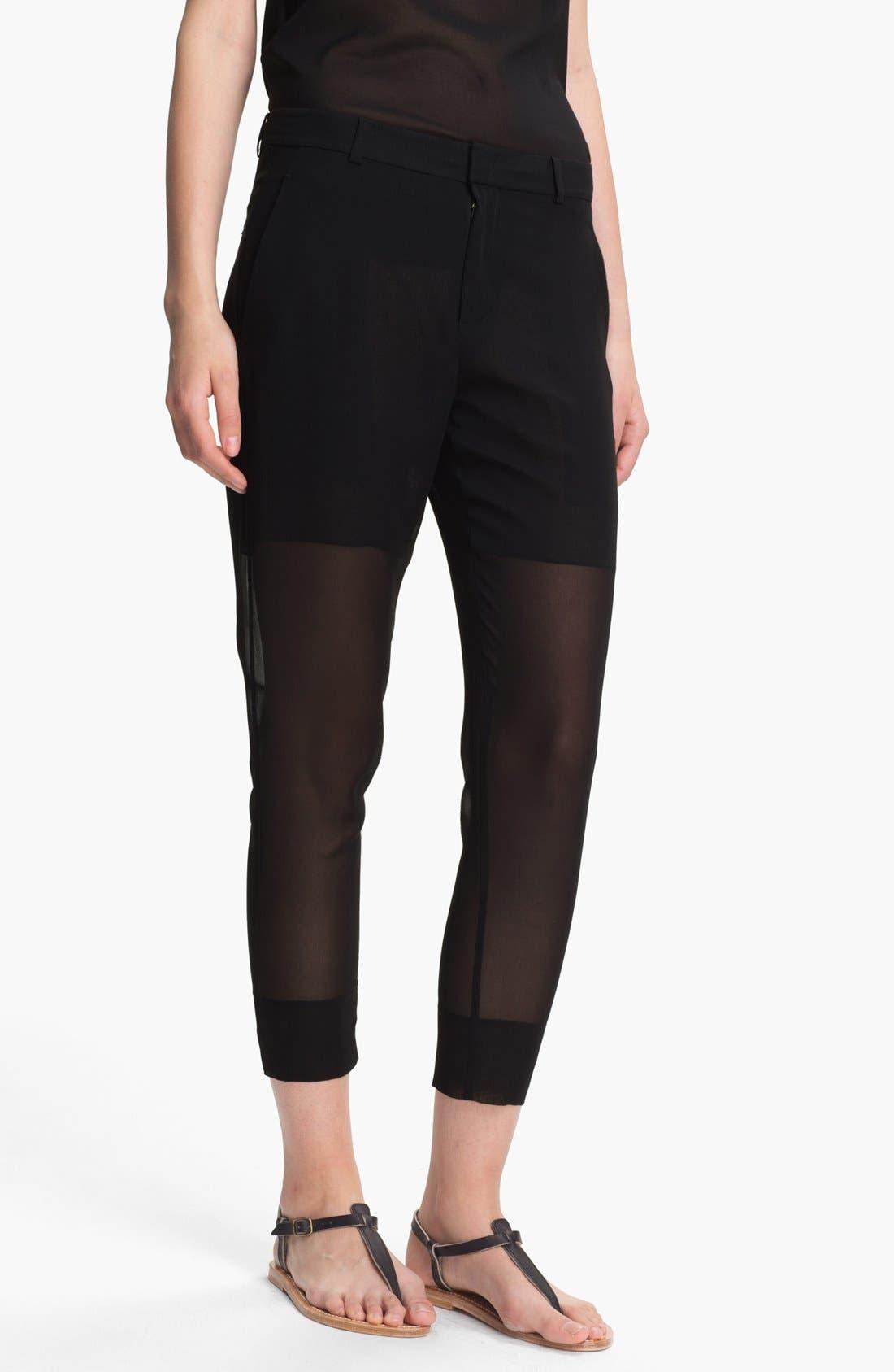Alternate Image 1 Selected - Vince Crop Silk Pants