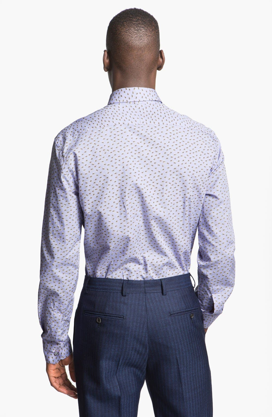 Alternate Image 2  - Paul Smith London Slim Fit Sand Dollar Print Dress Shirt