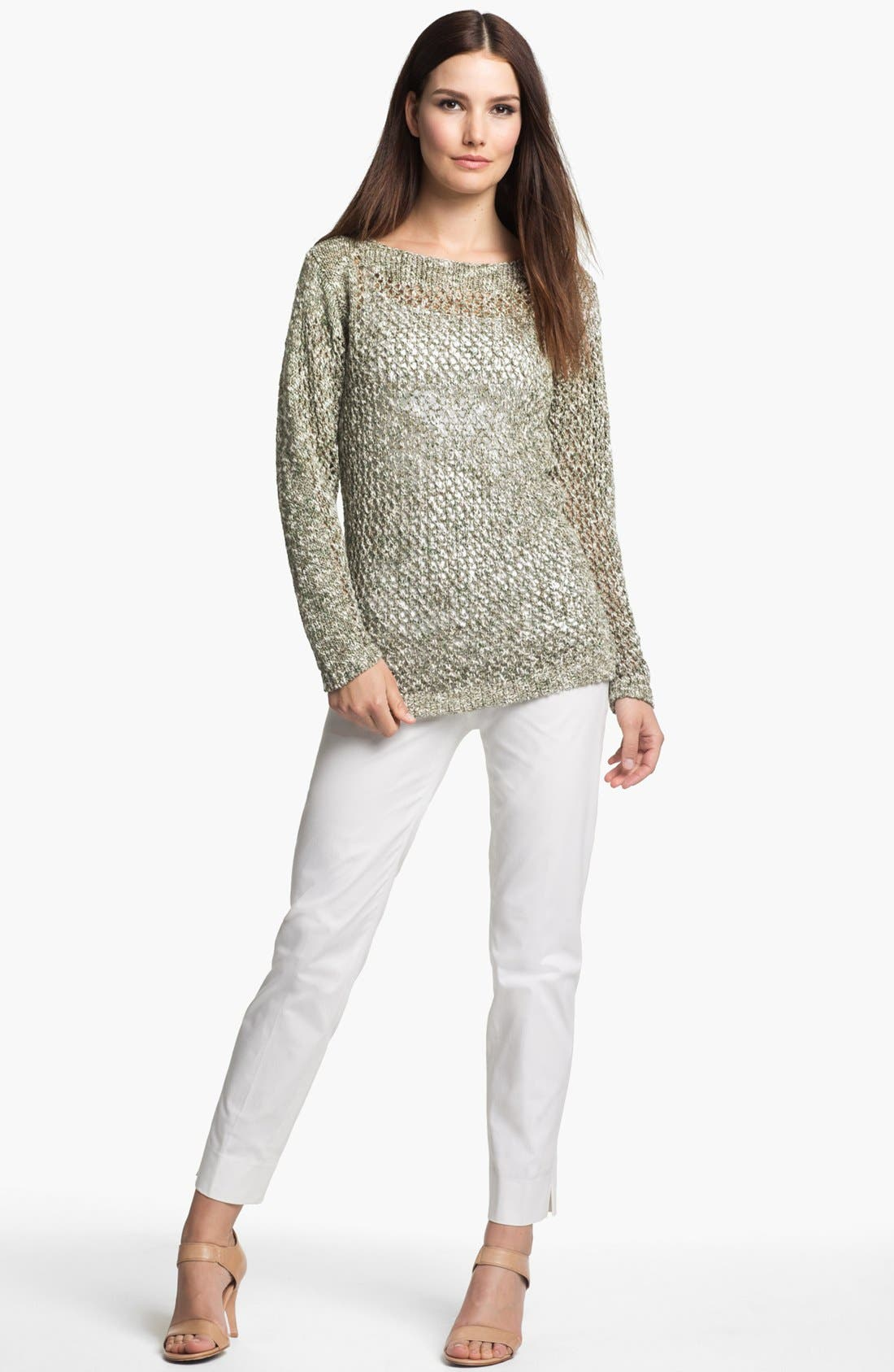 Alternate Image 3  - Lafayette 148 New York 'Chromatic Mélange' Net Stitch Sweater