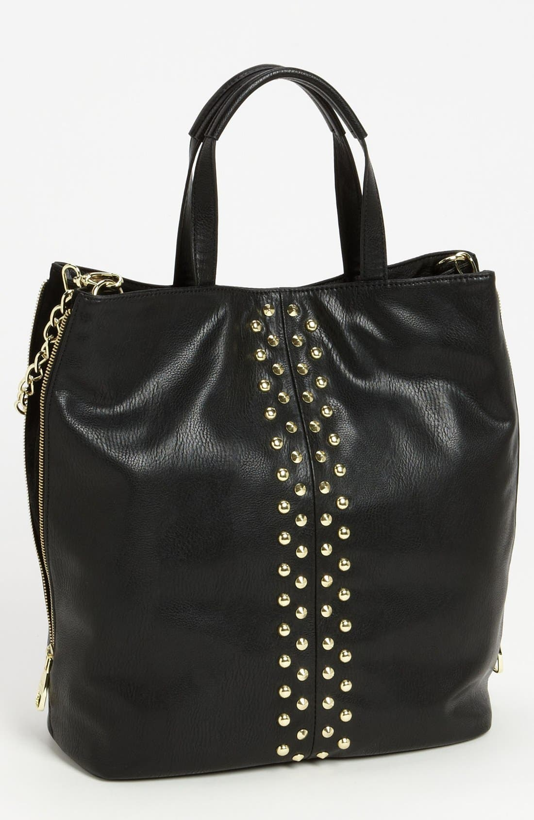 Main Image - Steve Madden Studded Faux Leather Tote, Large