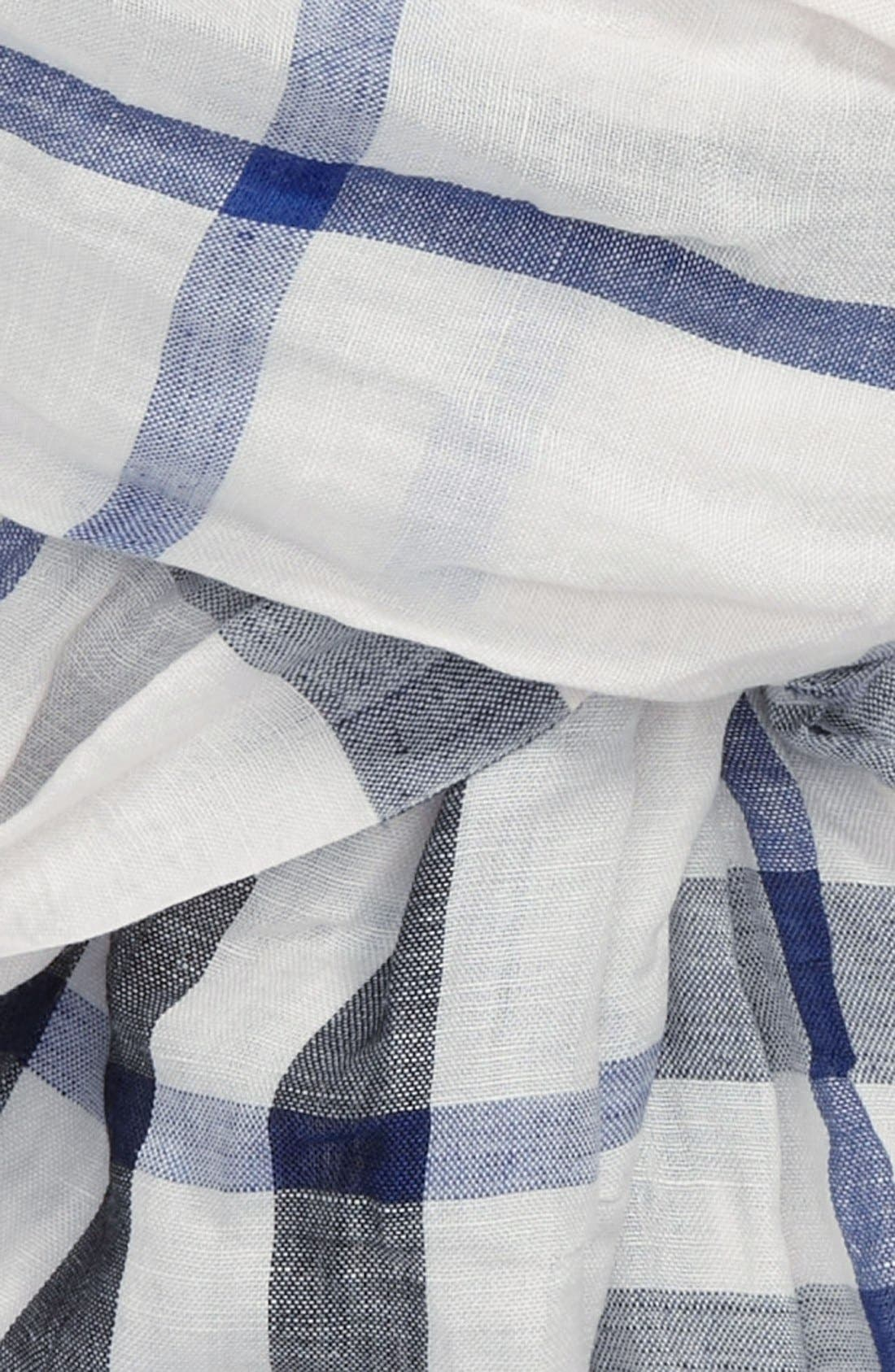 Alternate Image 2  - Burberry Exploded Check Linen & Silk Scarf