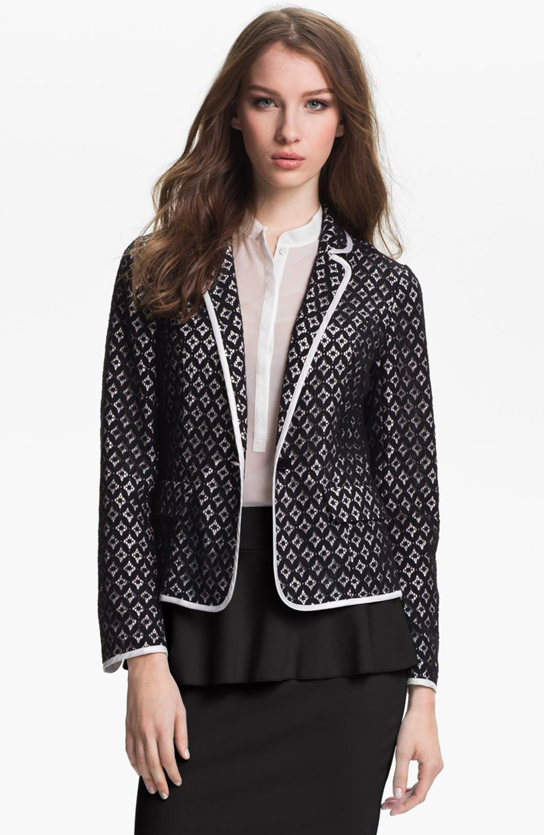 Alternate Image 2  - Kensie 'Geo Lace' Blazer