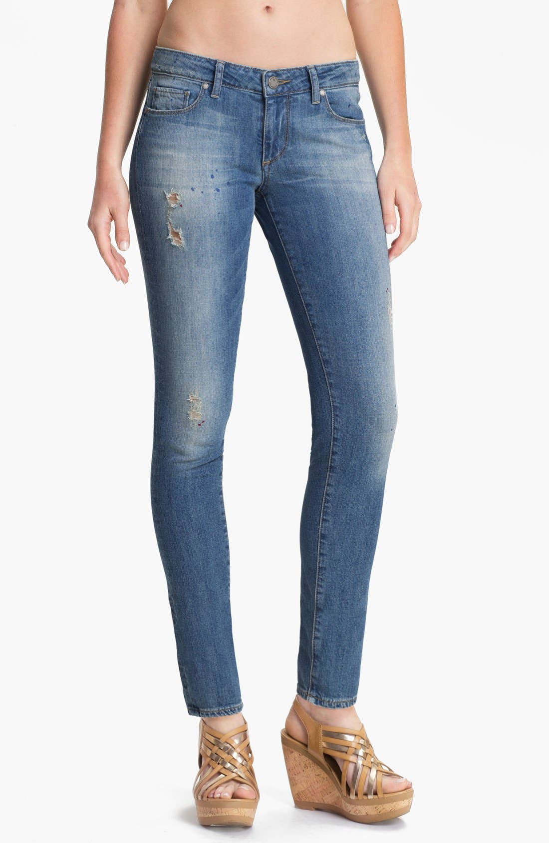 Alternate Image 1 Selected - Paige Denim 'Skyline' Skinny Stretch Ankle Jeans (Monet)