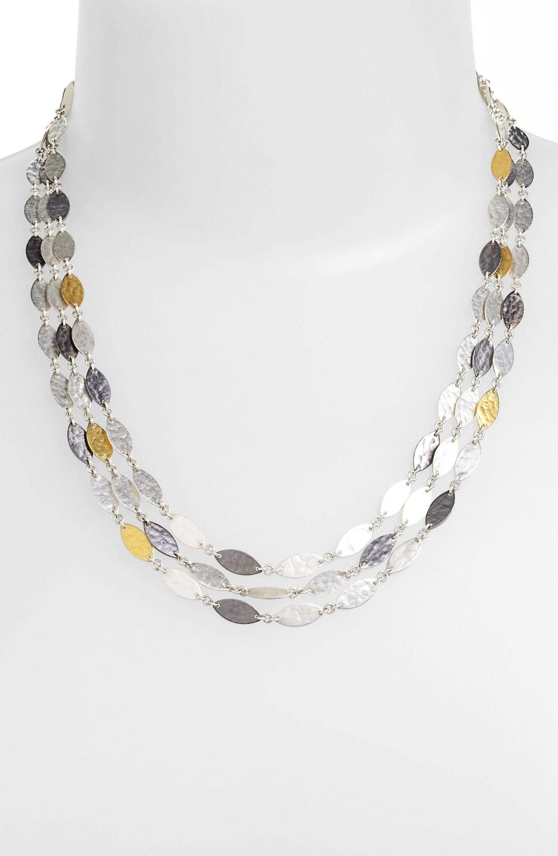 Alternate Image 1 Selected - Gurhan 'Willow' Silver & Gold Leaf Necklace