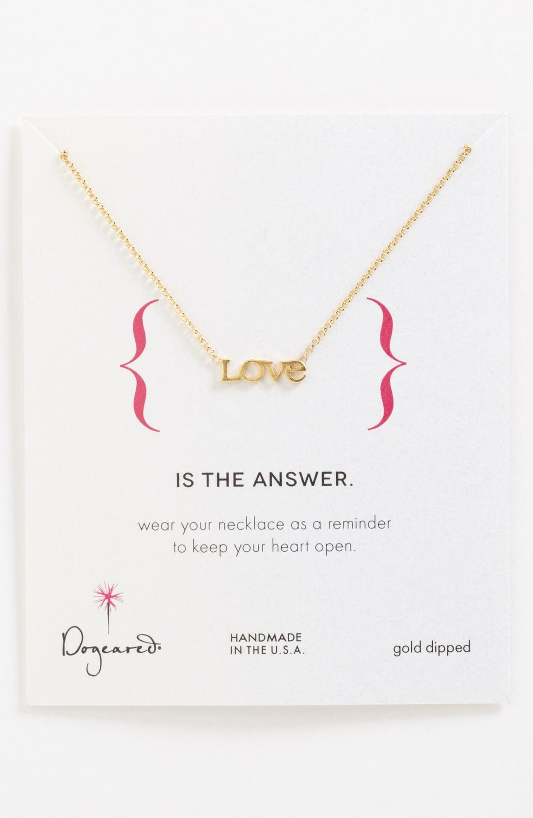 Main Image - Dogeared 'Words to Live By - Love' Pendant Necklace