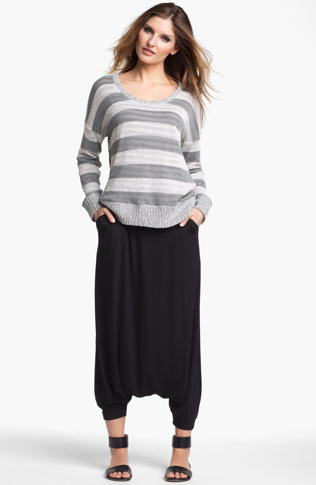 Alternate Image 4  - Eileen Fisher Scoop Neck Stripe Sweater