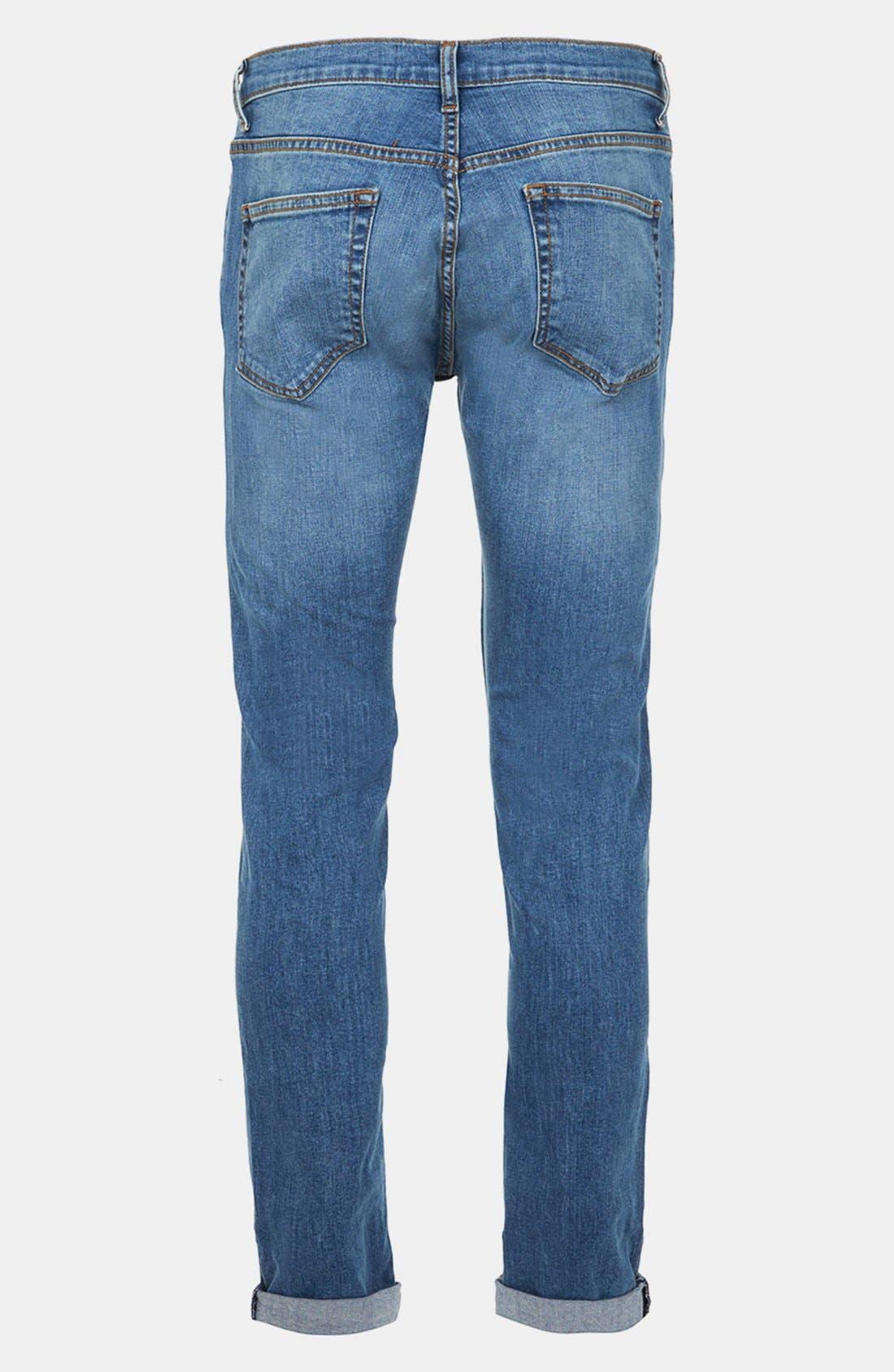 Alternate Image 2  - Topman Skinny Fit Stretch Jeans