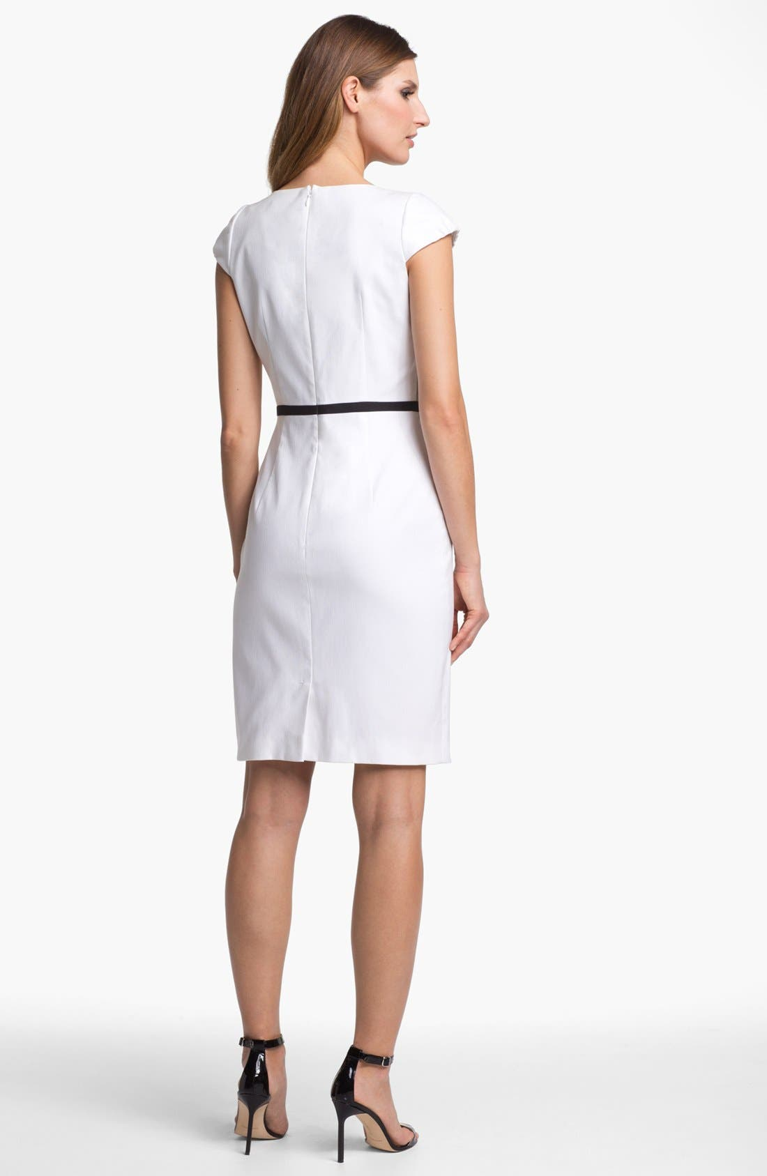 Alternate Image 2  - Tahari Colorblock Sheath Dress