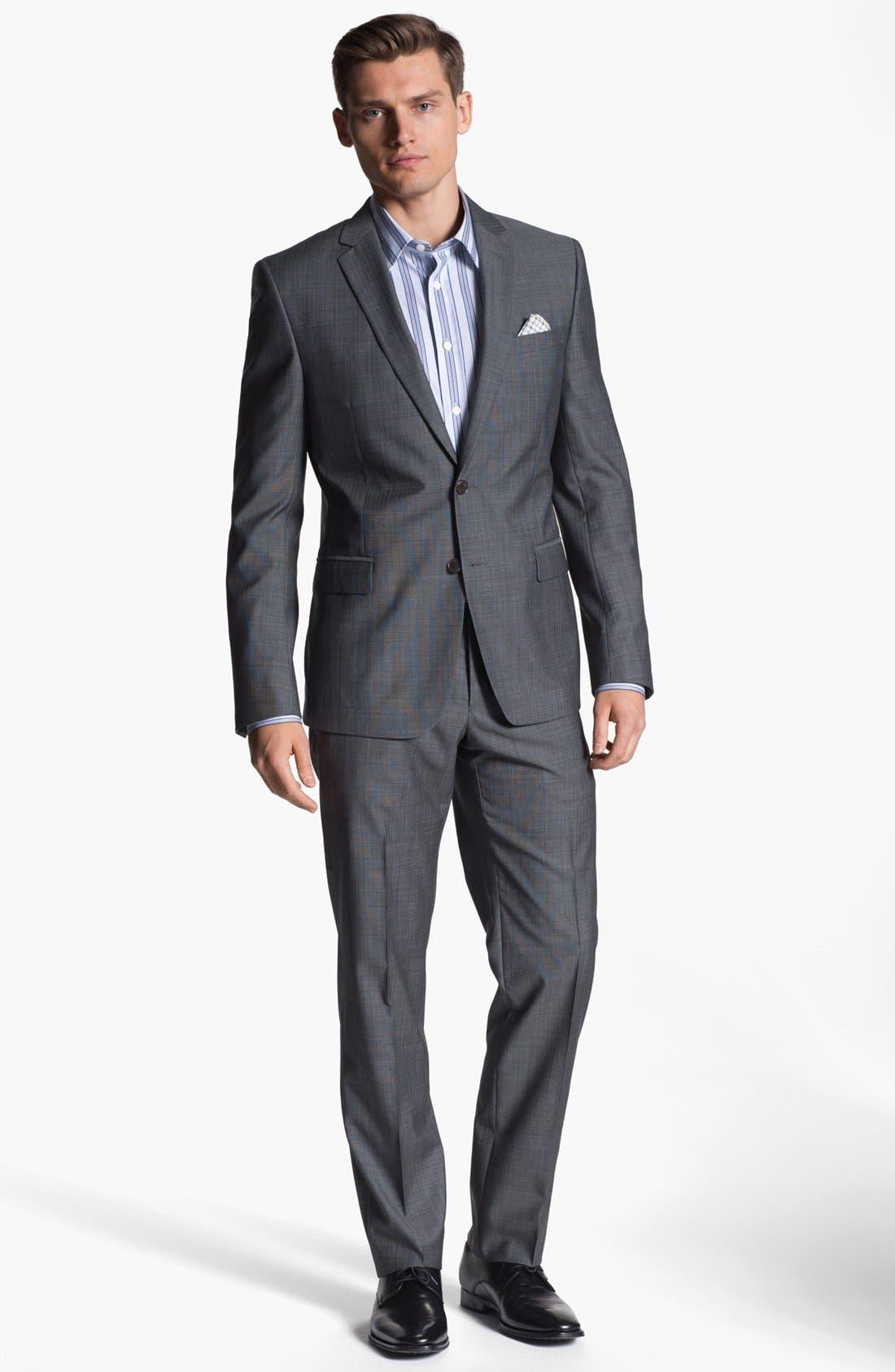 Alternate Image 2  - Versace Trim Fit Wool Blend Suit
