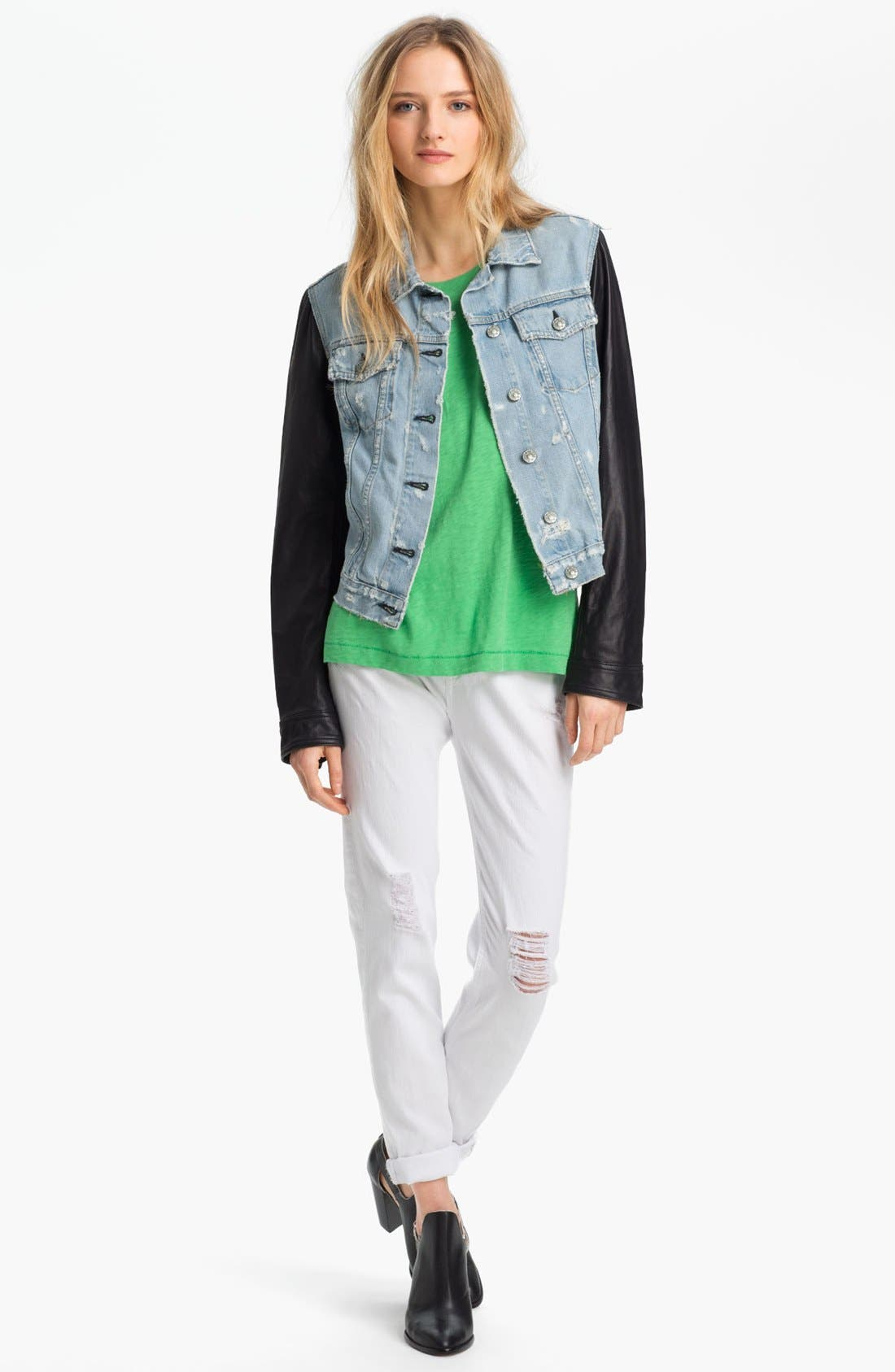 Alternate Image 2  - rag & bone/JEAN Leather & Denim Jacket