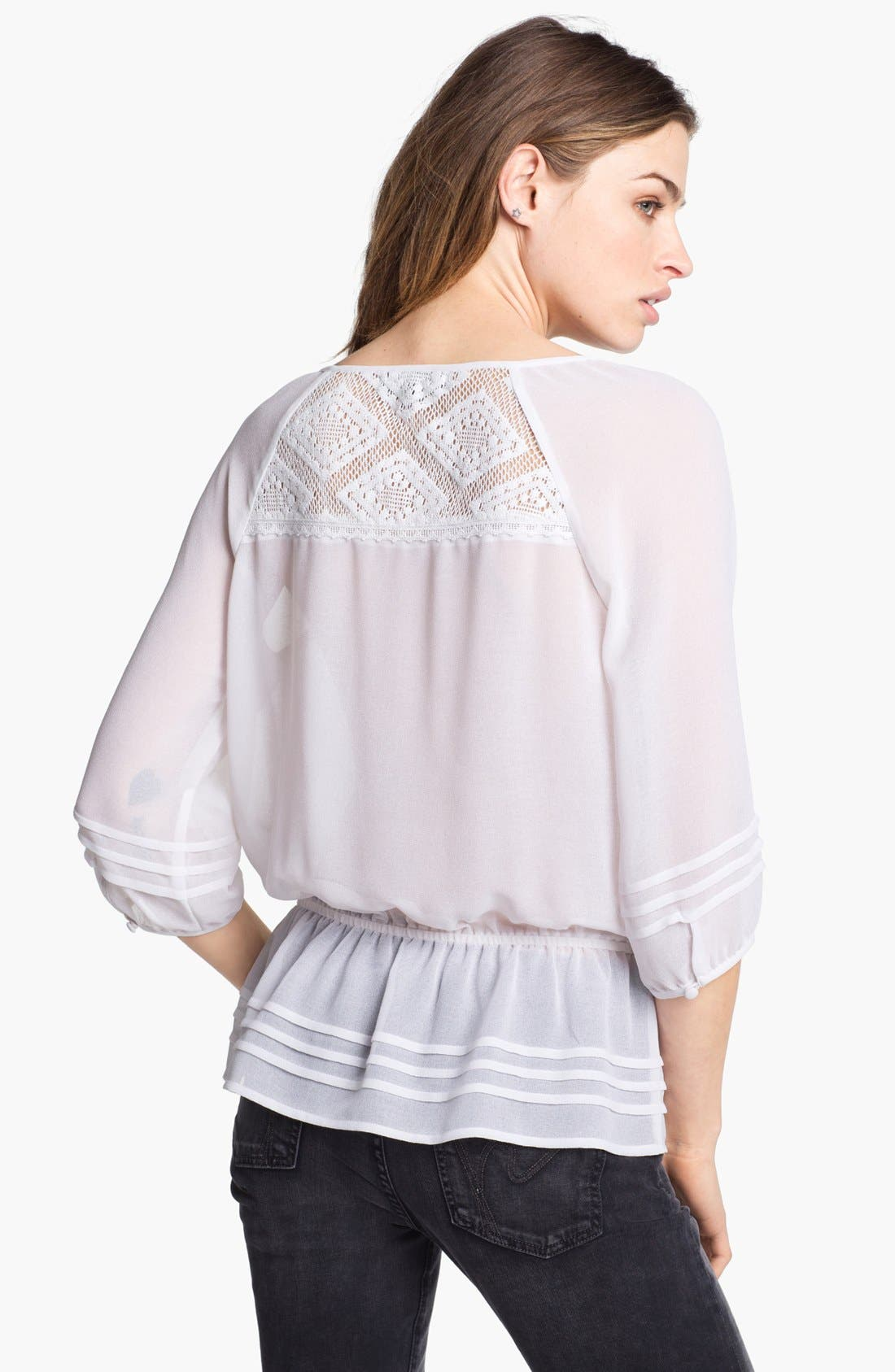 Alternate Image 2  - Sanctuary Peplum Peasant Blouse