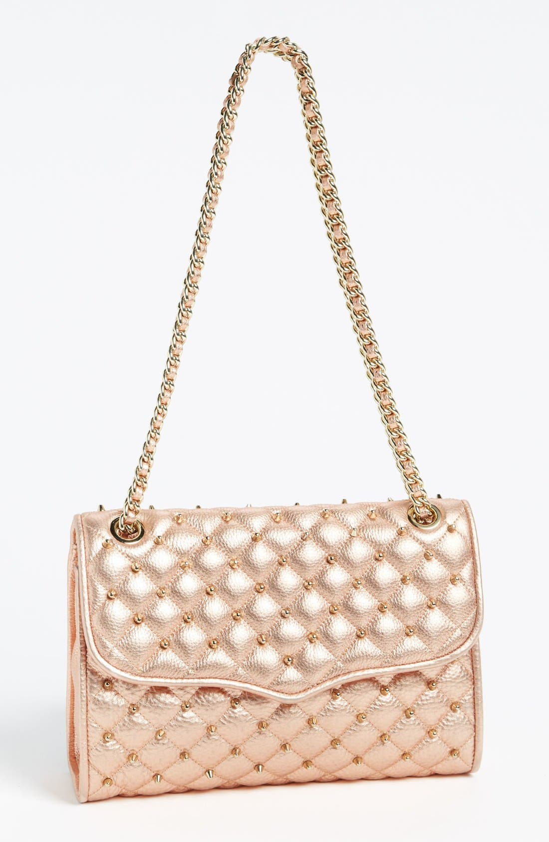 Main Image - Rebecca Minkoff 'Quilted Affair with Studs' Shoulder Bag