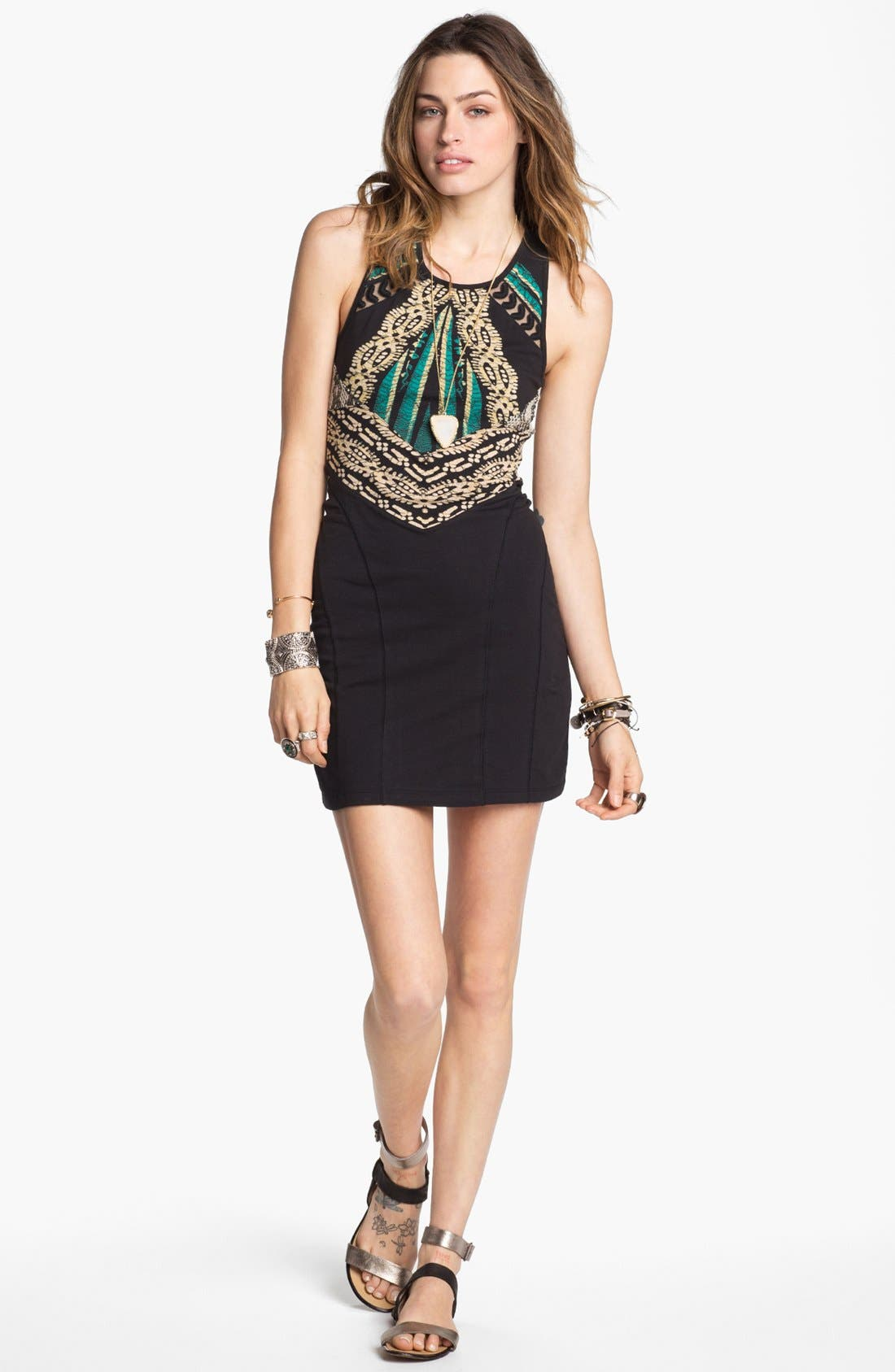 Main Image - Free People 'Out of Africa' Cutout Body-Con Dress