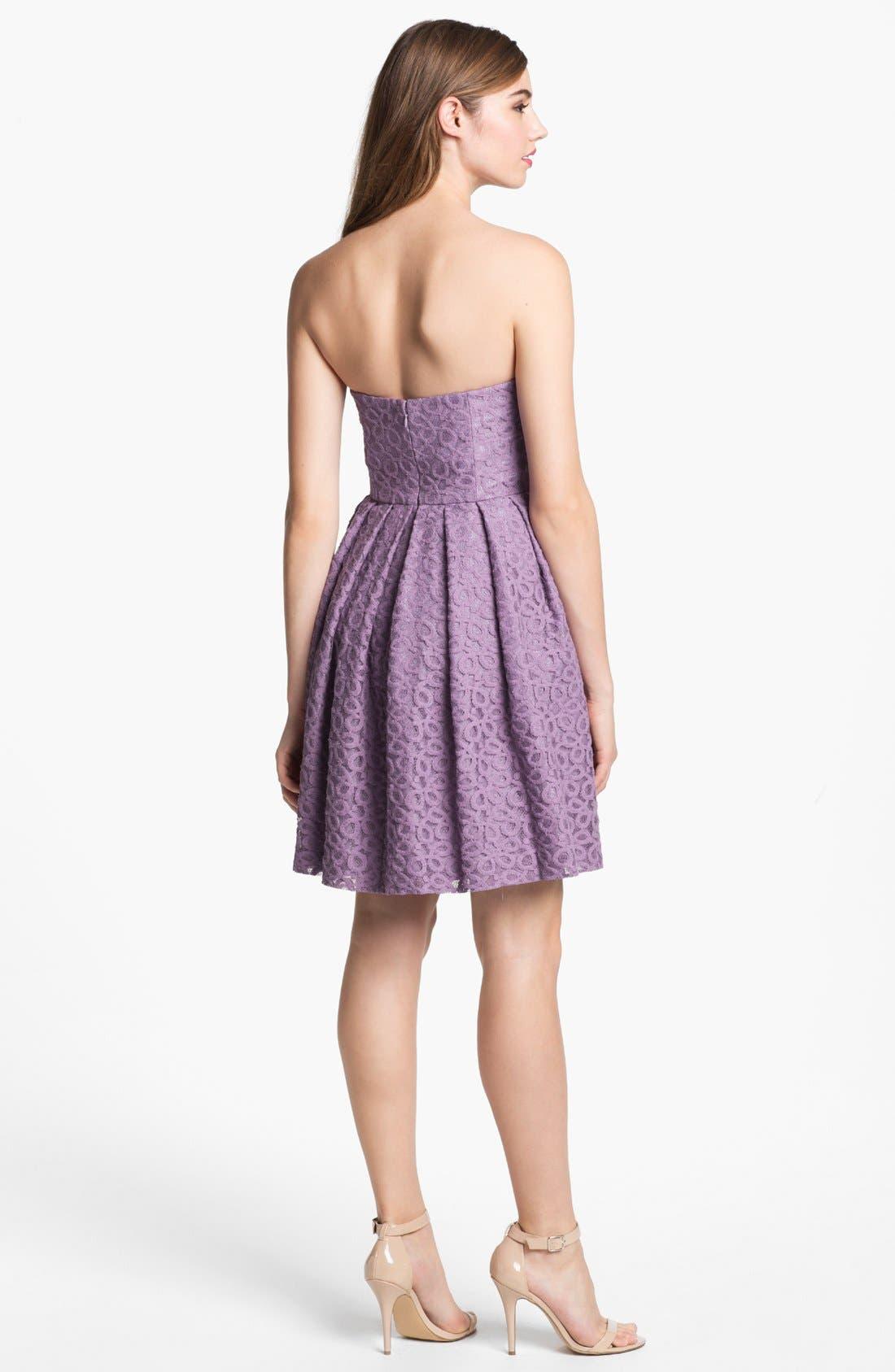Alternate Image 2  - Donna Morgan 'Nicole' Strapless Lace Dress