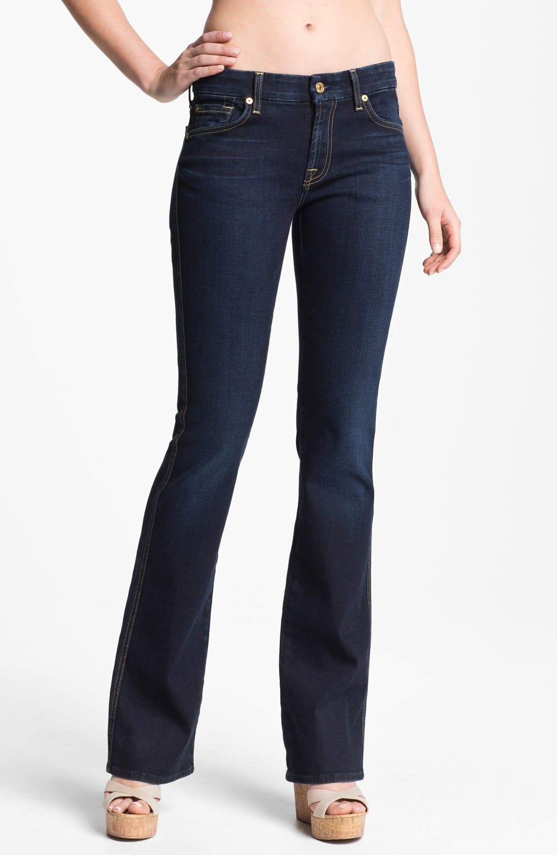 Main Image - 7 For all Mankind® 'Kimmie' Bootcut Jeans (Slim Illusion Dark Rich Blue)